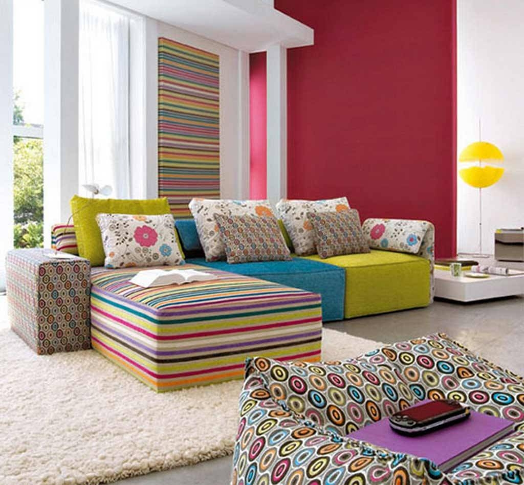 Striped Sofa Interior Design | Tehranmix Decoration Throughout Striped Sofas  And Chairs (Image 28 Of