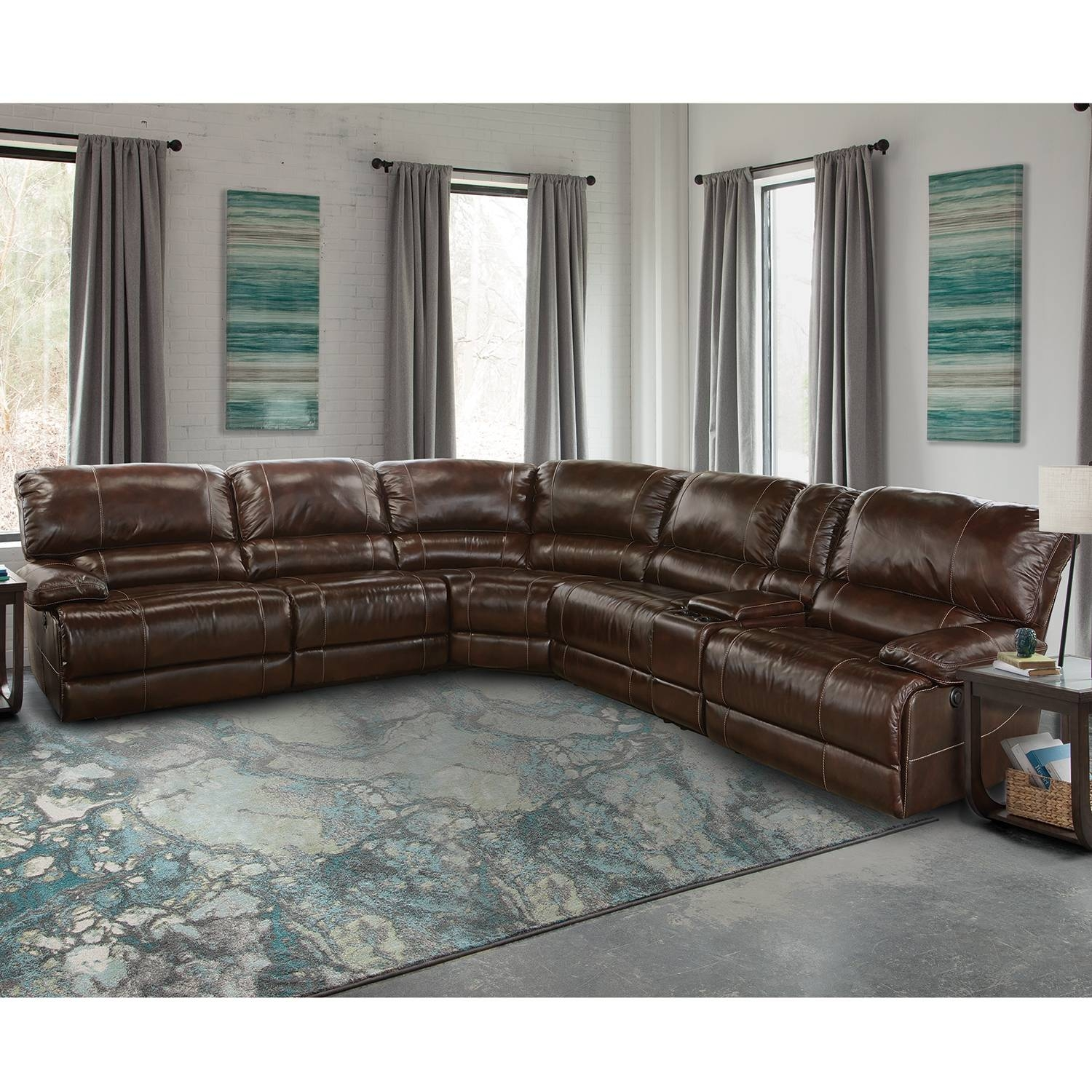 Stunning 6 Piece Leather Sectional Sofa 68 For Your Sectional intended for Leather Sectional Sofas Toronto (Image 17 of 25)