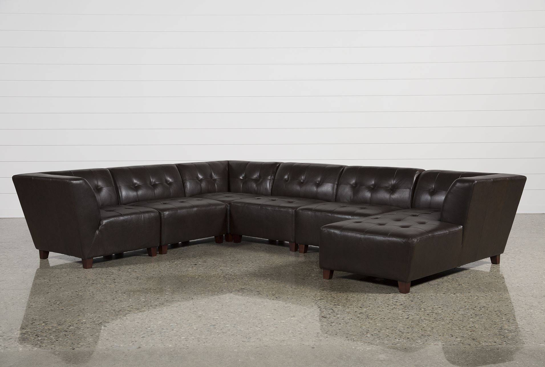 Stunning 6 Piece Leather Sectional Sofa 68 For Your Sectional intended for Leather Sectional Sofas Toronto (Image 16 of 25)