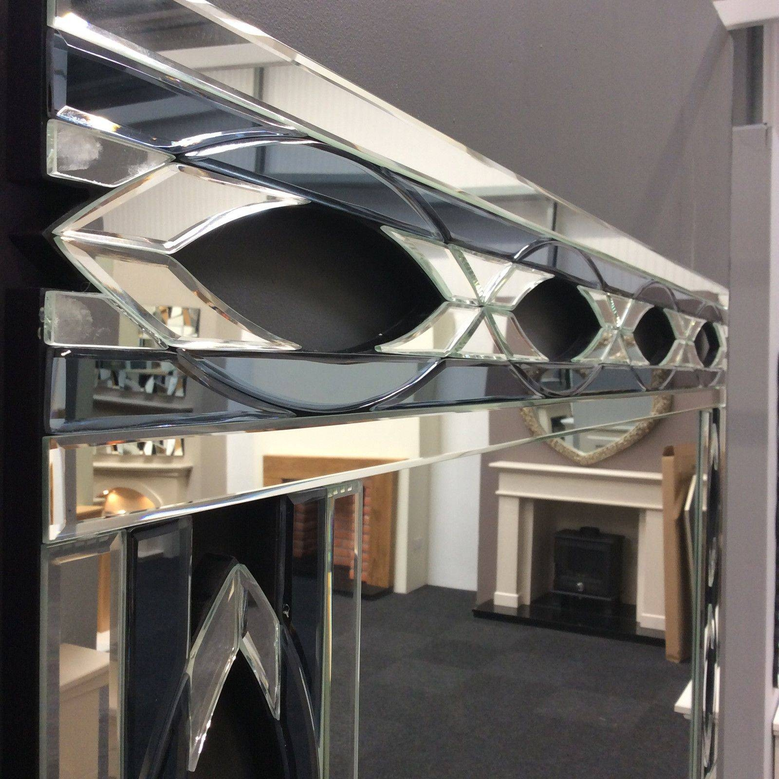 Stunning Contemporary Art Deco Inspired Venetian Mirror - New intended for Art Deco Venetian Mirrors (Image 23 of 25)