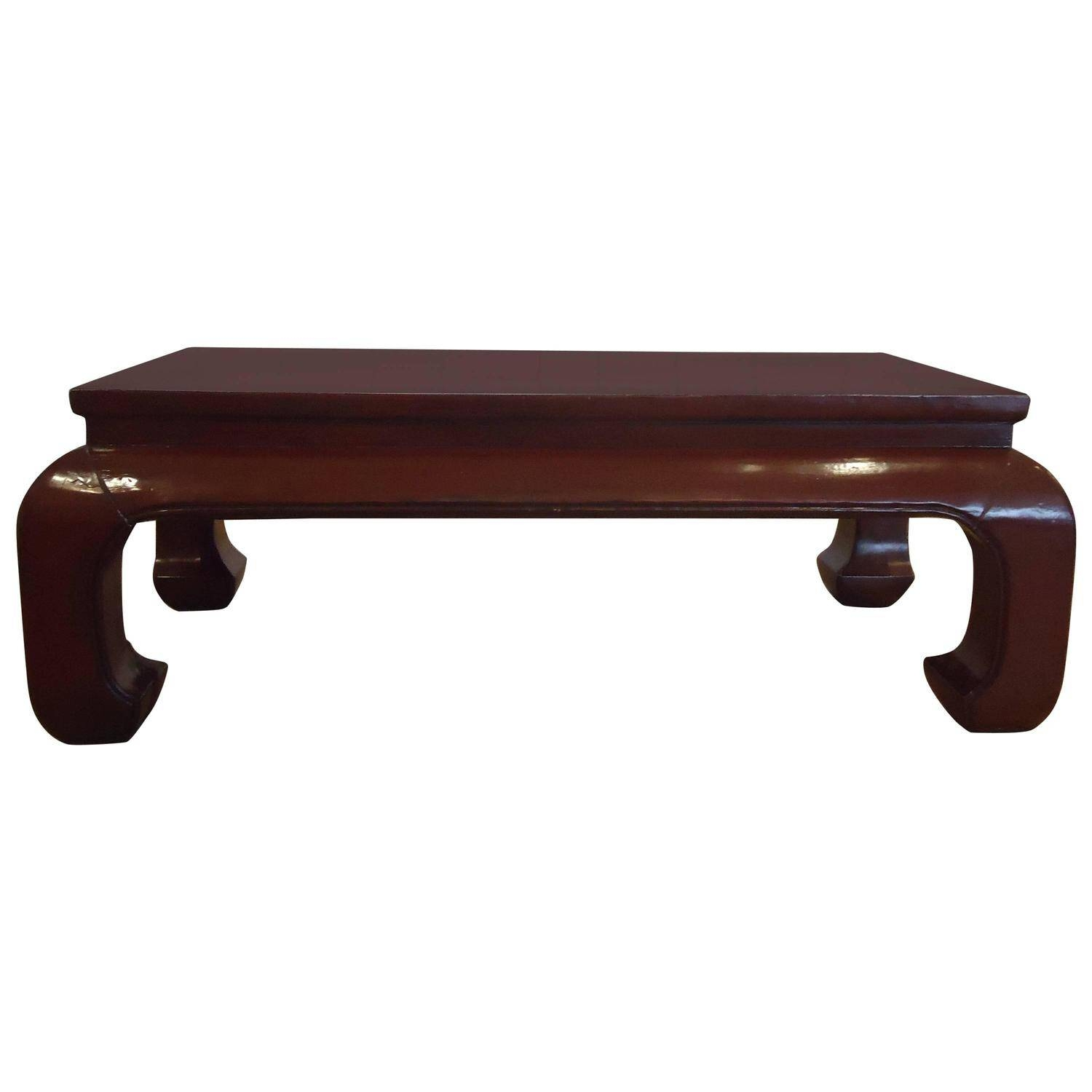 Stunning Dark Red Lacquer Chinese Coffee Table At 1Stdibs within Chinese Coffee Tables (Image 27 of 30)