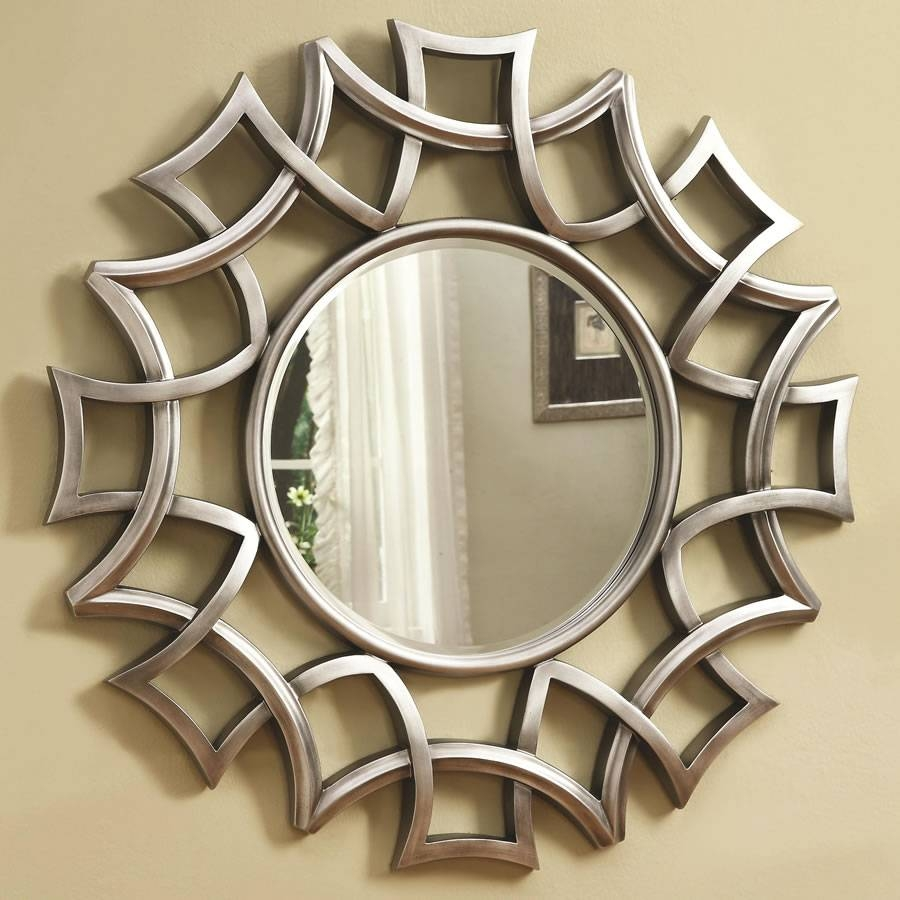 Stunning Decorative Round Wall Mirrors Pictures - Home Decorating regarding Circular Wall Mirrors (Image 22 of 25)