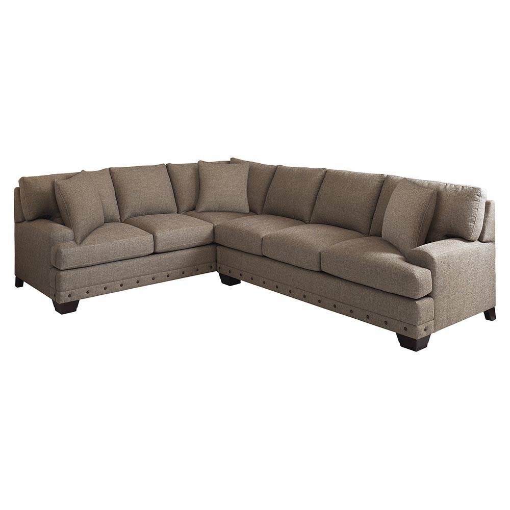 Stunning Down Filled Sectional With Nail Head Trim. | Furniture for Down Filled Sectional Sofa (Image 24 of 25)
