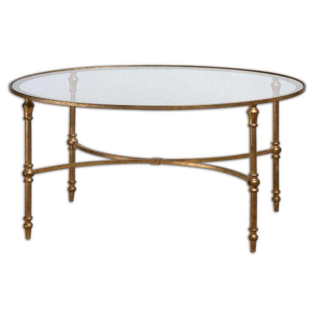 Stunning Round Metal And Glass Coffee Table With Antique And throughout Antique Glass Coffee Tables (Image 26 of 30)