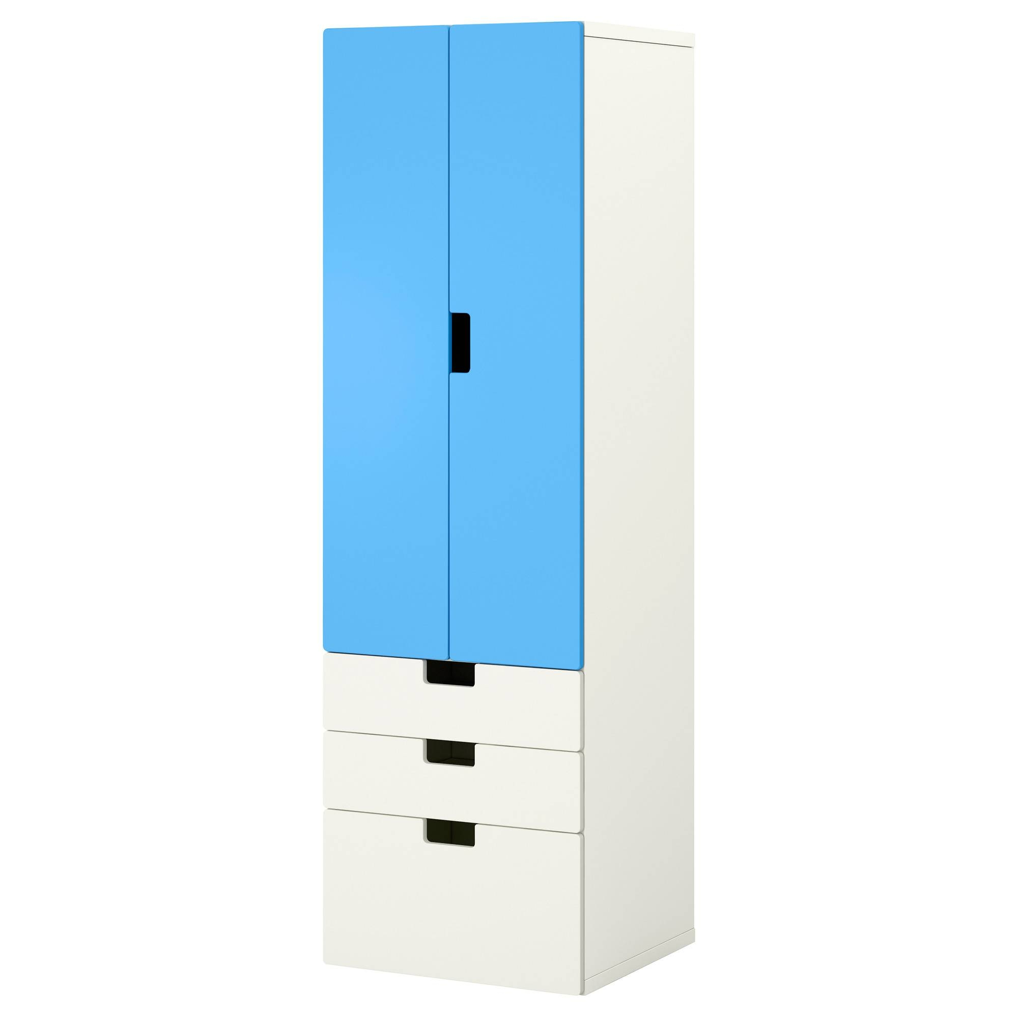 Stuva Storage Combination W Doors/drawers White/blue 60X50X192 Cm with Kids Wardrobes With Drawers (Image 11 of 15)