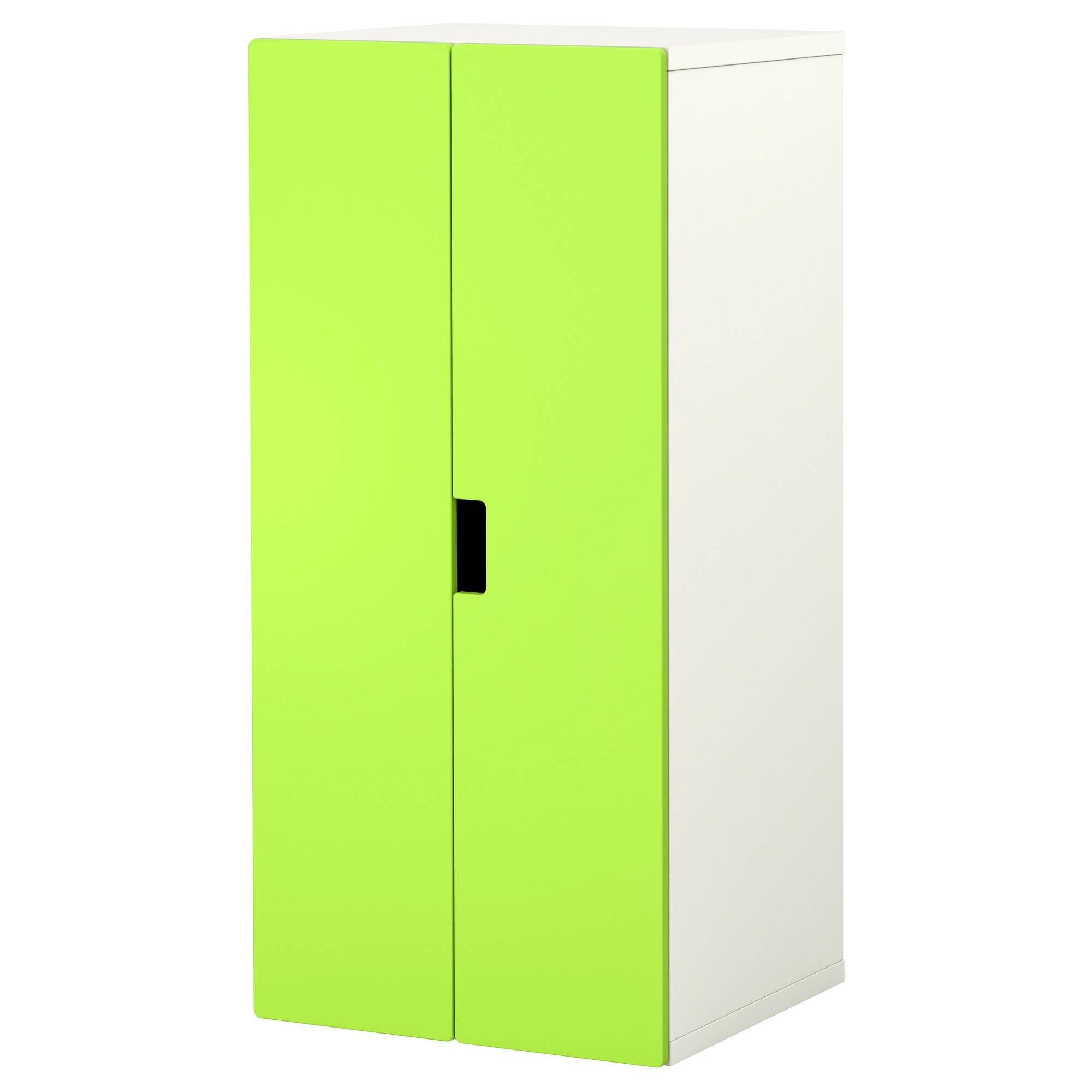 Stuva Storage Combination With Doors White/green 60X50X128 Cm - Ikea intended for Kids Wardrobes (Image 13 of 15)