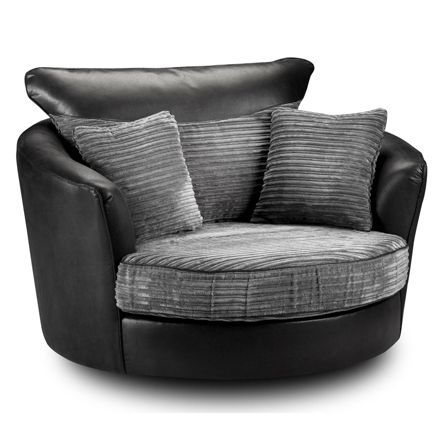 Styles: Circle Ottoman With Storage | Cuddler Chair | Brown regarding Cuddler Swivel Sofa Chairs (Image 25 of 30)
