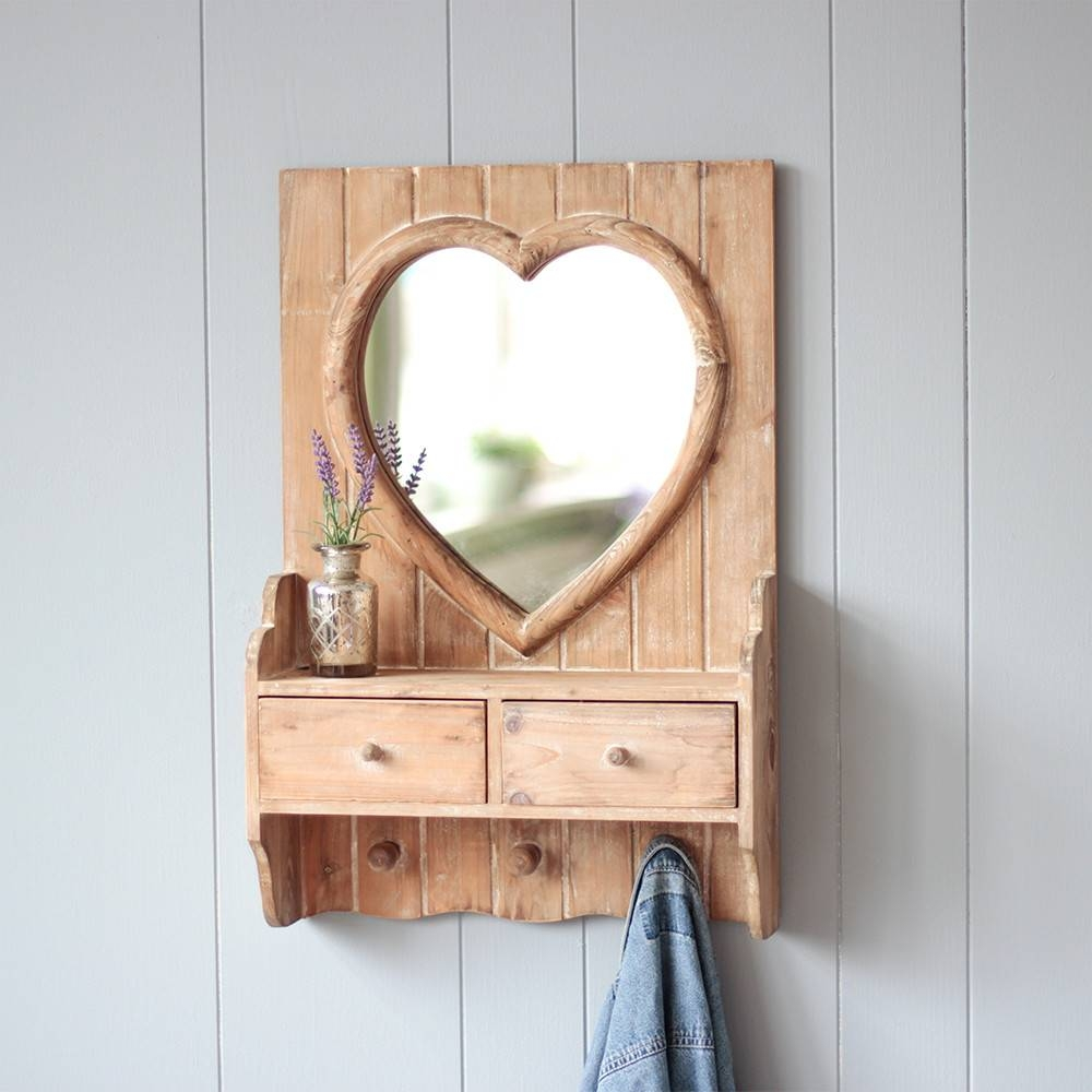 Stylish Mirrors, Feature Wall Mirrors And Vintage Style Compact inside Heart Shaped Mirrors For Wall (Image 21 of 25)