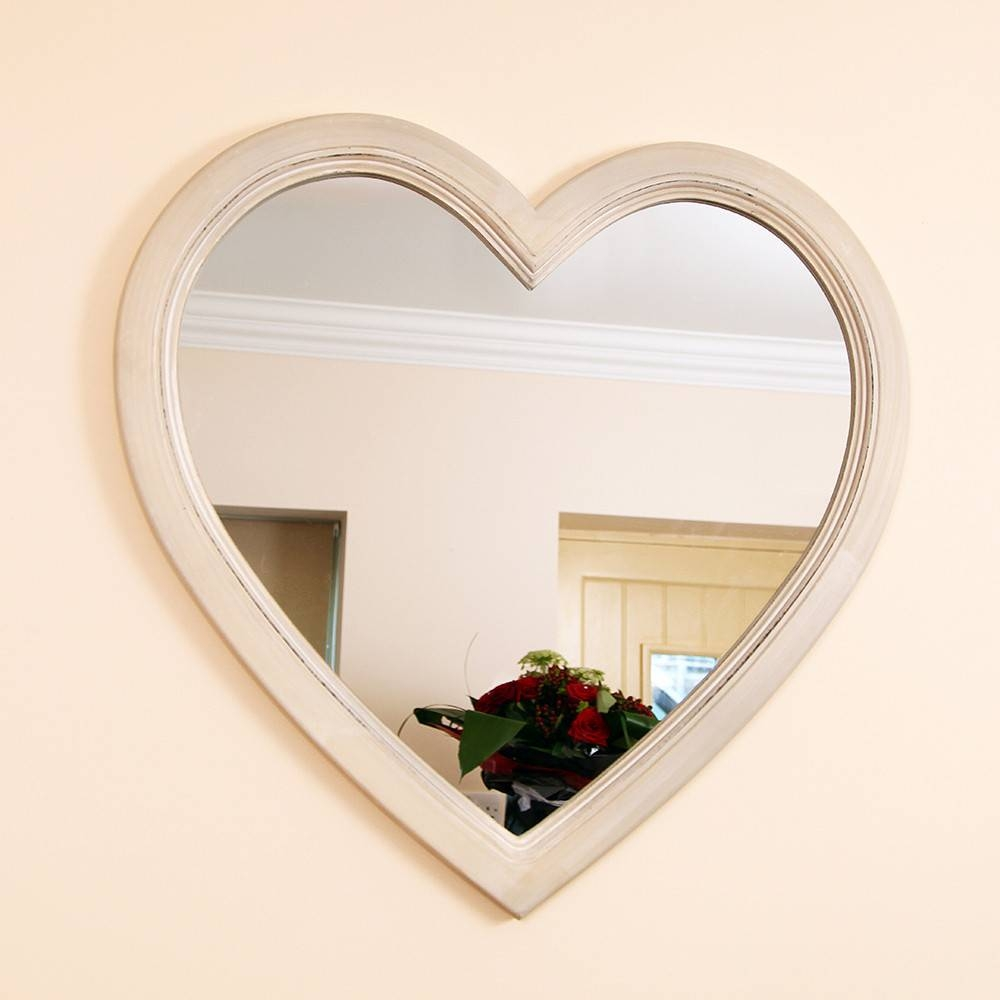 Stylish Mirrors, Feature Wall Mirrors And Vintage Style Compact throughout Heart Wall Mirrors (Image 24 of 25)