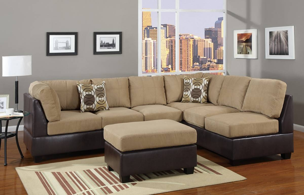 Featured Photo of Leather And Suede Sectional Sofa