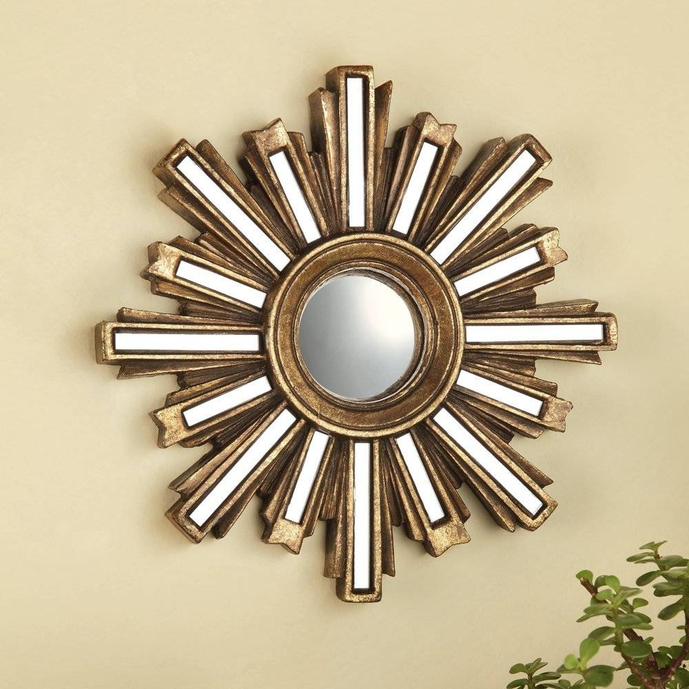 Sun Mirror Wall Decor Gold : Ideas Sun Mirror Wall Decor with regard to Small Gold Mirrors (Image 23 of 25)