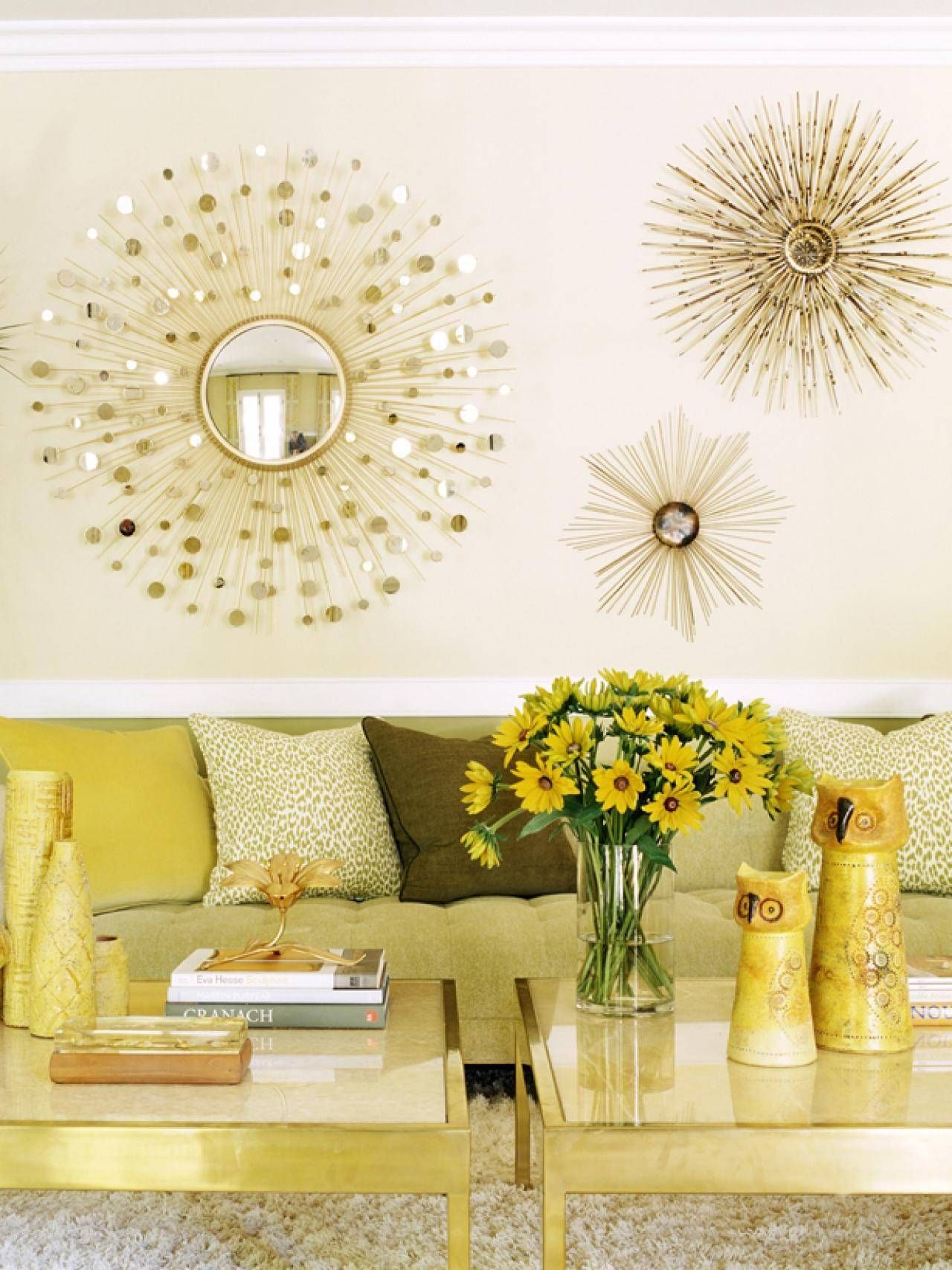 Sun Mirrors For Interior Wall Decoration In Contemporary Home with Modern Gold Mirrors (Image 23 of 25)