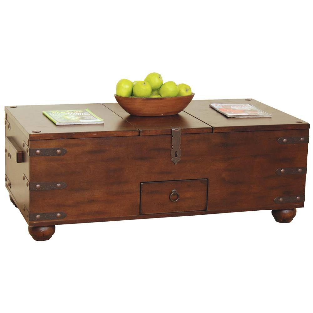 Sunny Designs Santa Fe Traditional Storage Coffee Table – Becker With Storage Coffee Tables (View 29 of 30)