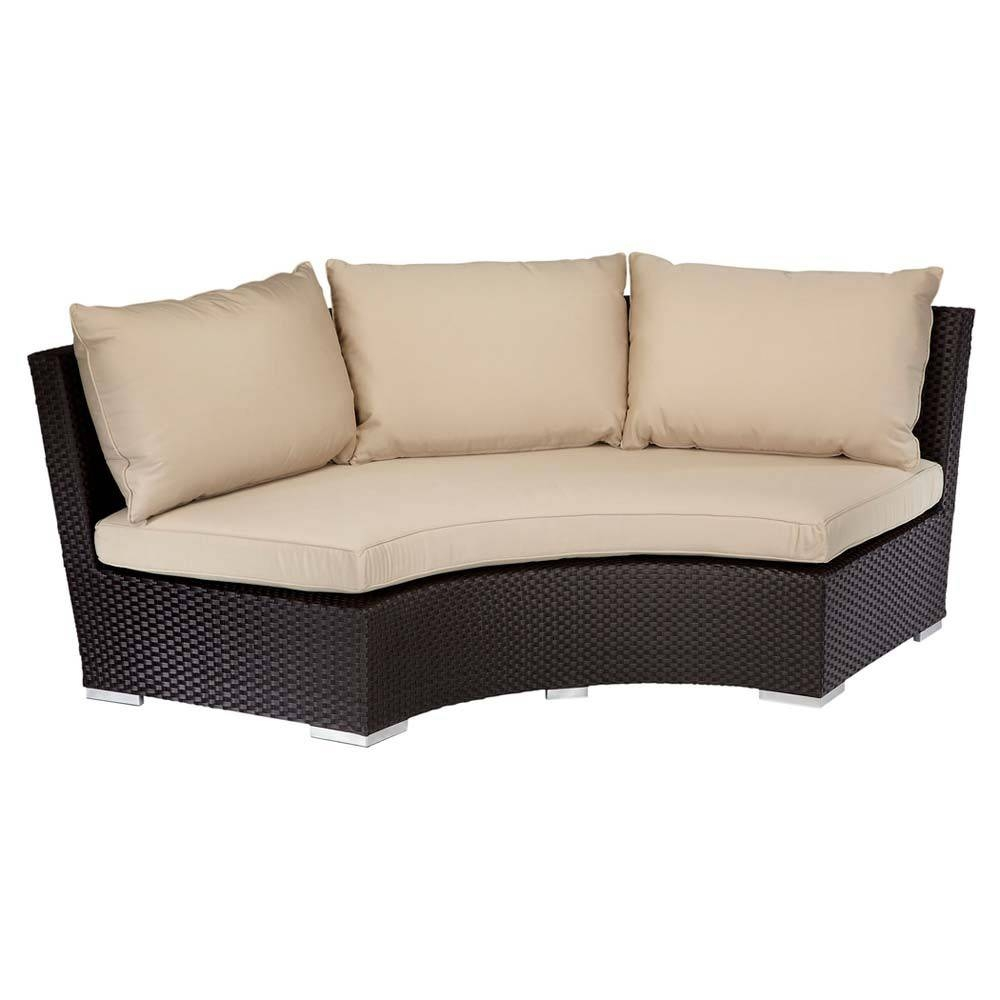 Sunset West Solana 1/4 Round Sofa - Wickercentral for Round Sofas (Image 30 of 30)