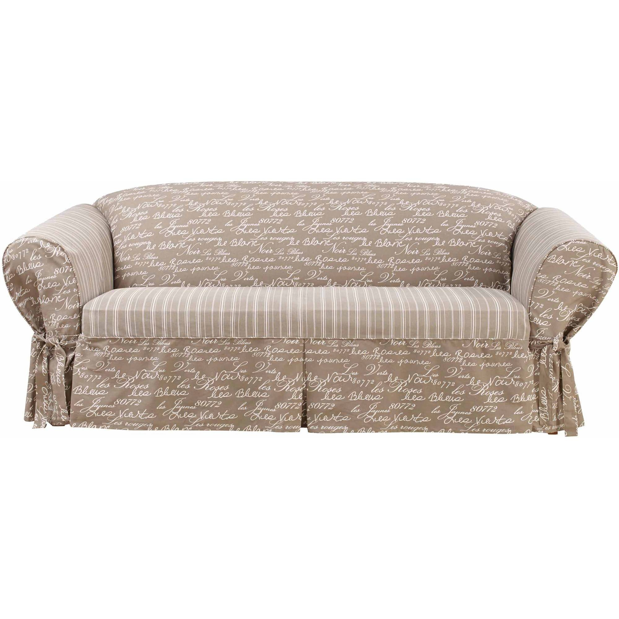 Sure Fit Soft Suede Sofa Cover - Walmart with regard to Teal Sofa Slipcovers (Image 29 of 30)