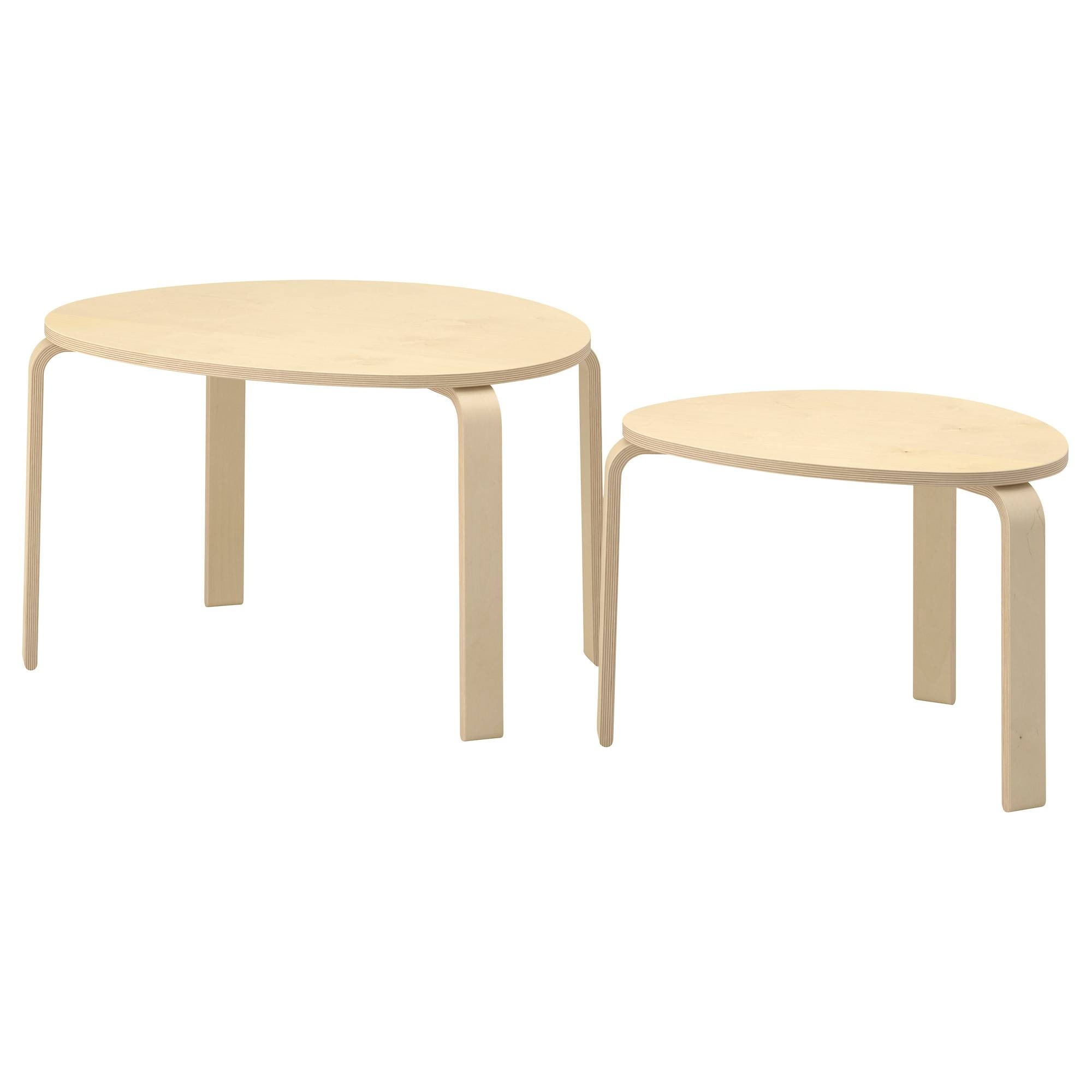 Svalsta Nesting Tables, Set Of 2 - Birch Veneer - Ikea throughout Birch Coffee Tables (Image 23 of 30)