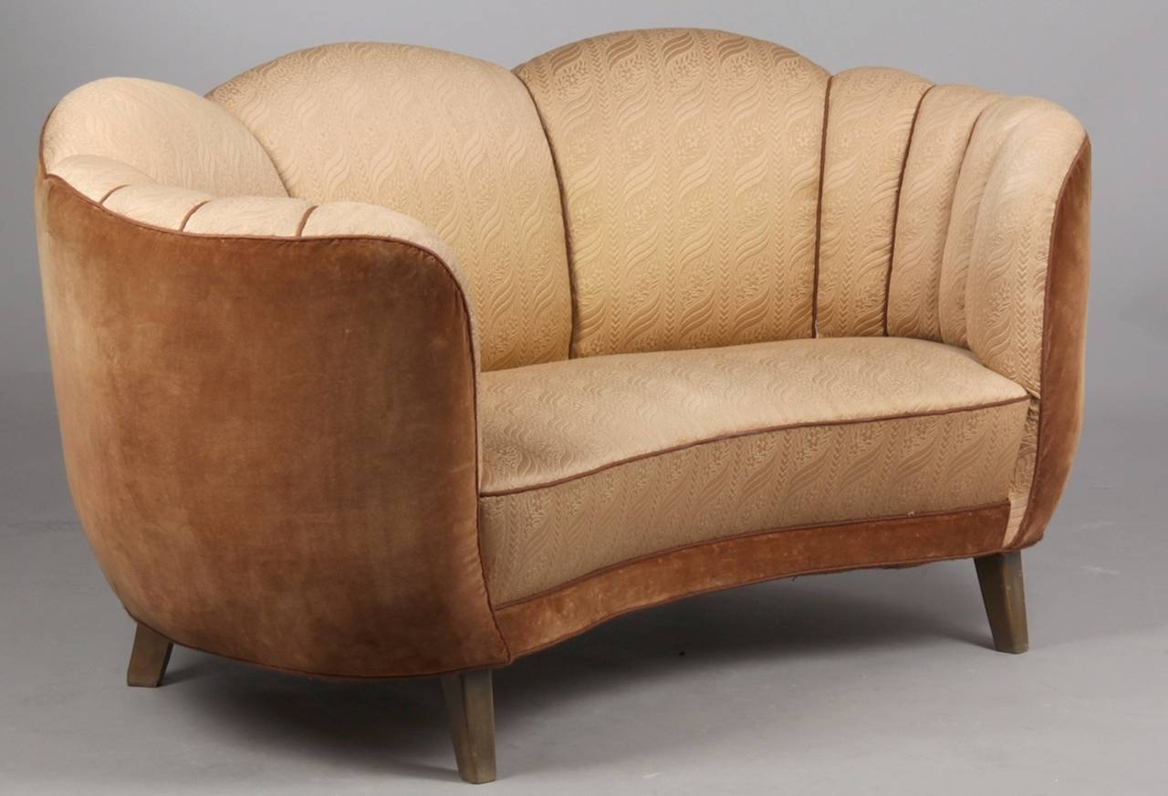 Swedish Art Deco Curved Sofa At 1Stdibs inside Art Deco Sofa and Chairs (Image 15 of 15)