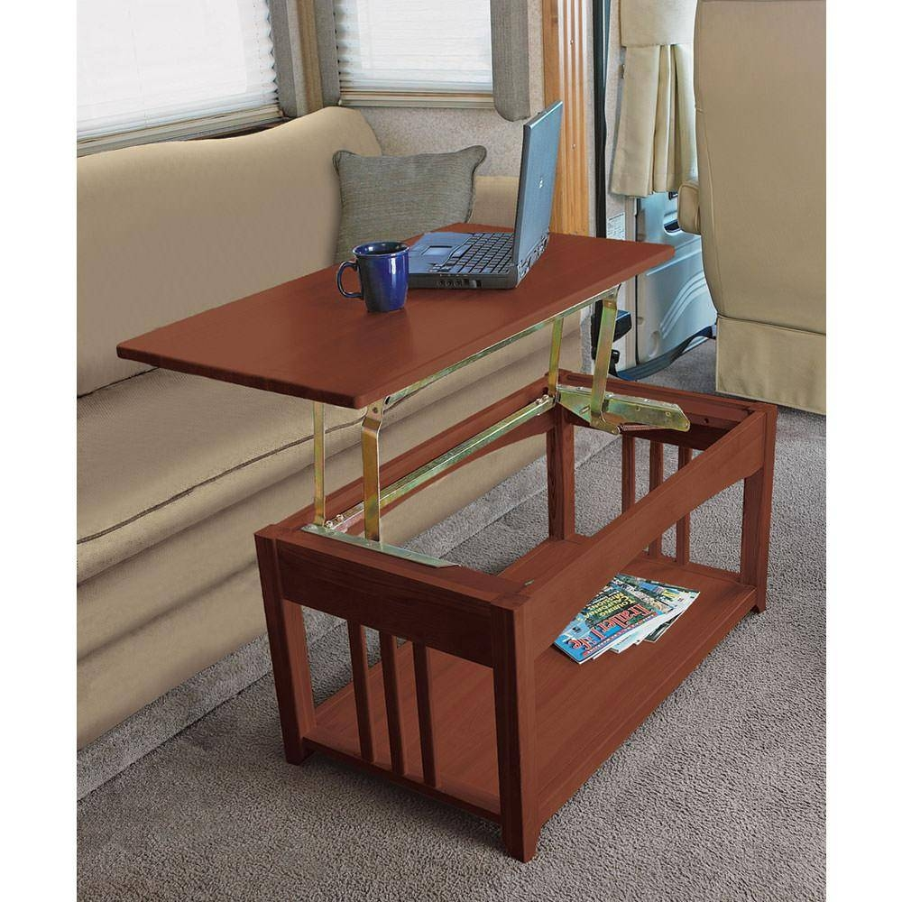 Swing Up Coffee Table – Walnut – Direcsource Ltd D32 0002 Inside Swing Up Coffee Tables (View 27 of 30)