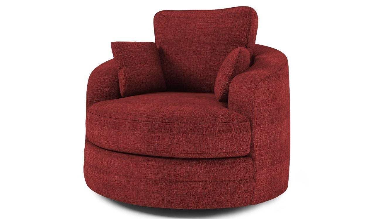 Swivel Cuddle Chair Sofa-Burgundy - Sawanna 9 for Cuddler Swivel Sofa Chairs (Image 27 of 30)
