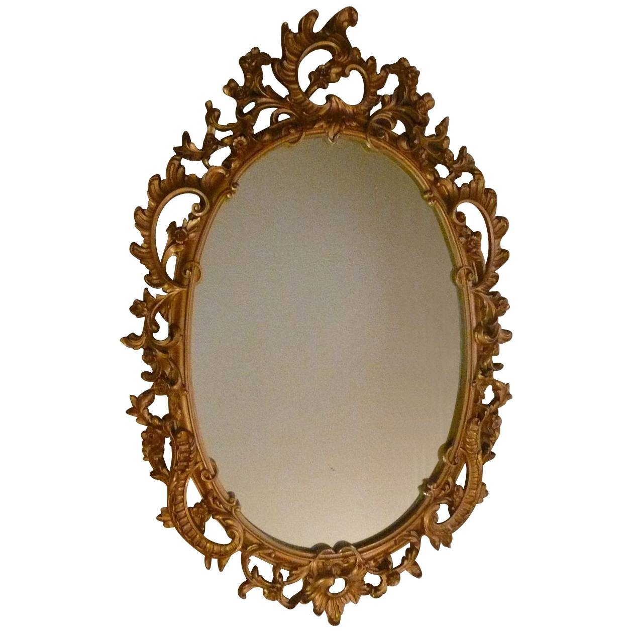 Syroco Wood Composite Mirror With Ornate Scroll From Artgate On regarding Ornamental Mirrors (Image 23 of 25)