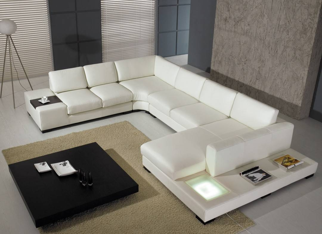 T 35 Modern Leather Sectional Sofa inside White Modern Sofas (Image 24 of 30)