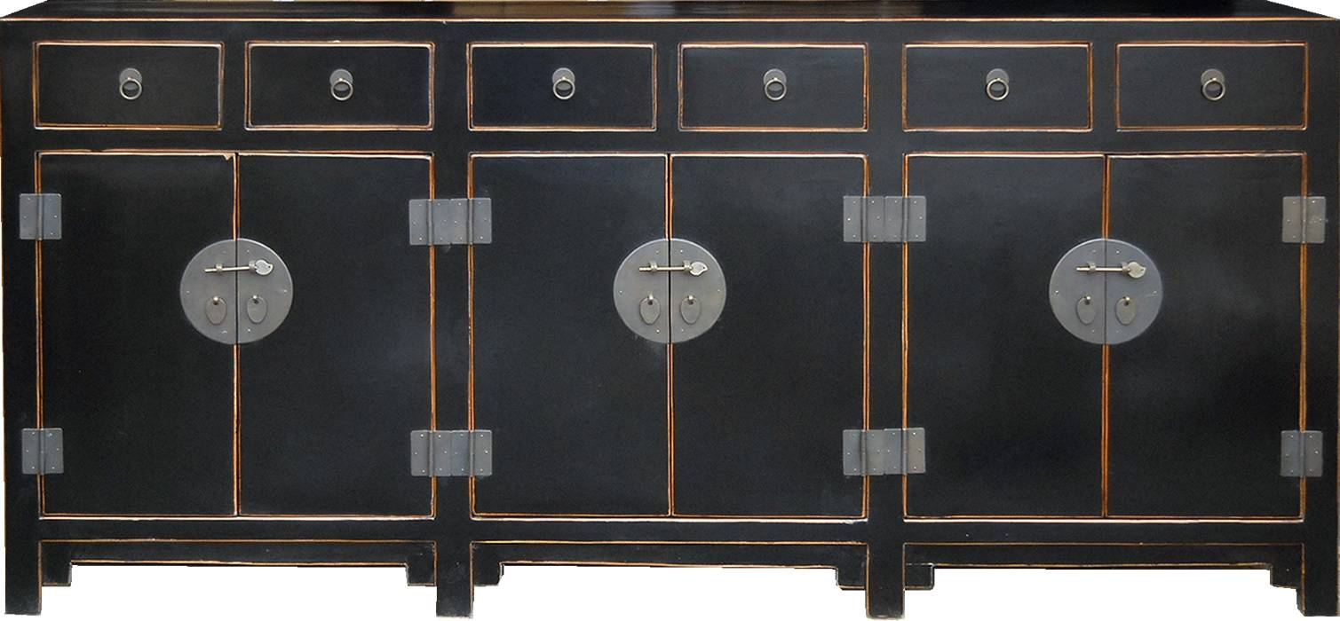 T2626Br -Teng Lacquered And Rattan Sideboard with Chinese Sideboards (Image 28 of 30)