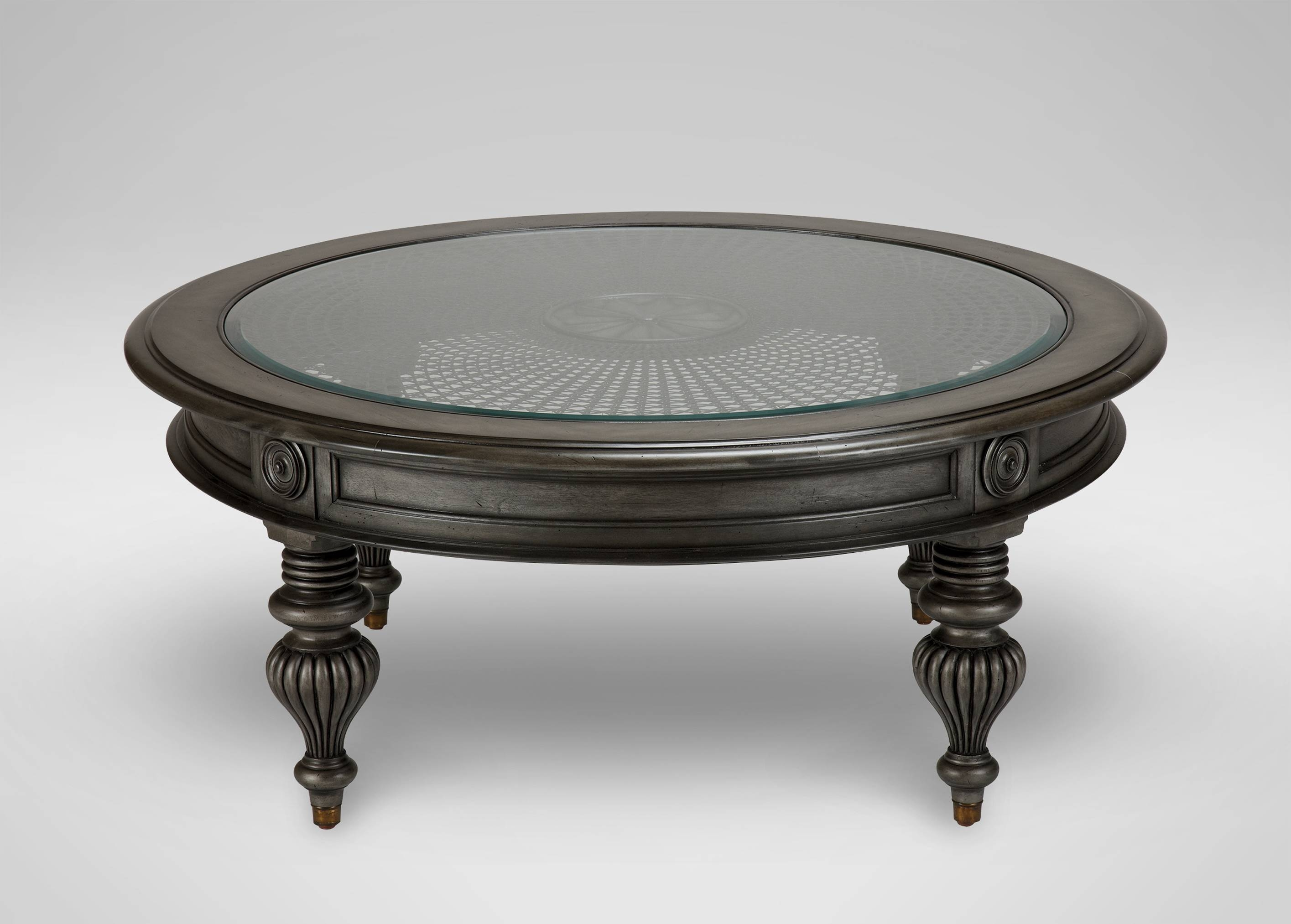 Table : Enchanting Oval Coffee Tables Glass Acrylic And Metal intended for Black Oval Coffee Table (Image 27 of 30)