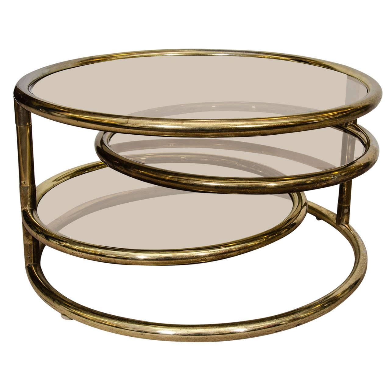 Table. Milo Baughman Coffee Table - Home Interior Design inside Round Swivel Coffee Tables (Image 27 of 30)