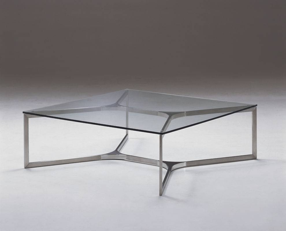 Table : Modern Square Glass Coffee Table Contemporary Compact in Modern Square Glass Coffee Tables (Image 14 of 15)