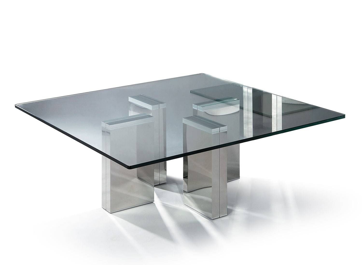 Table : Modern Square Glass Coffee Table Transitional Large Modern for Modern Square Glass Coffee Tables (Image 15 of 15)