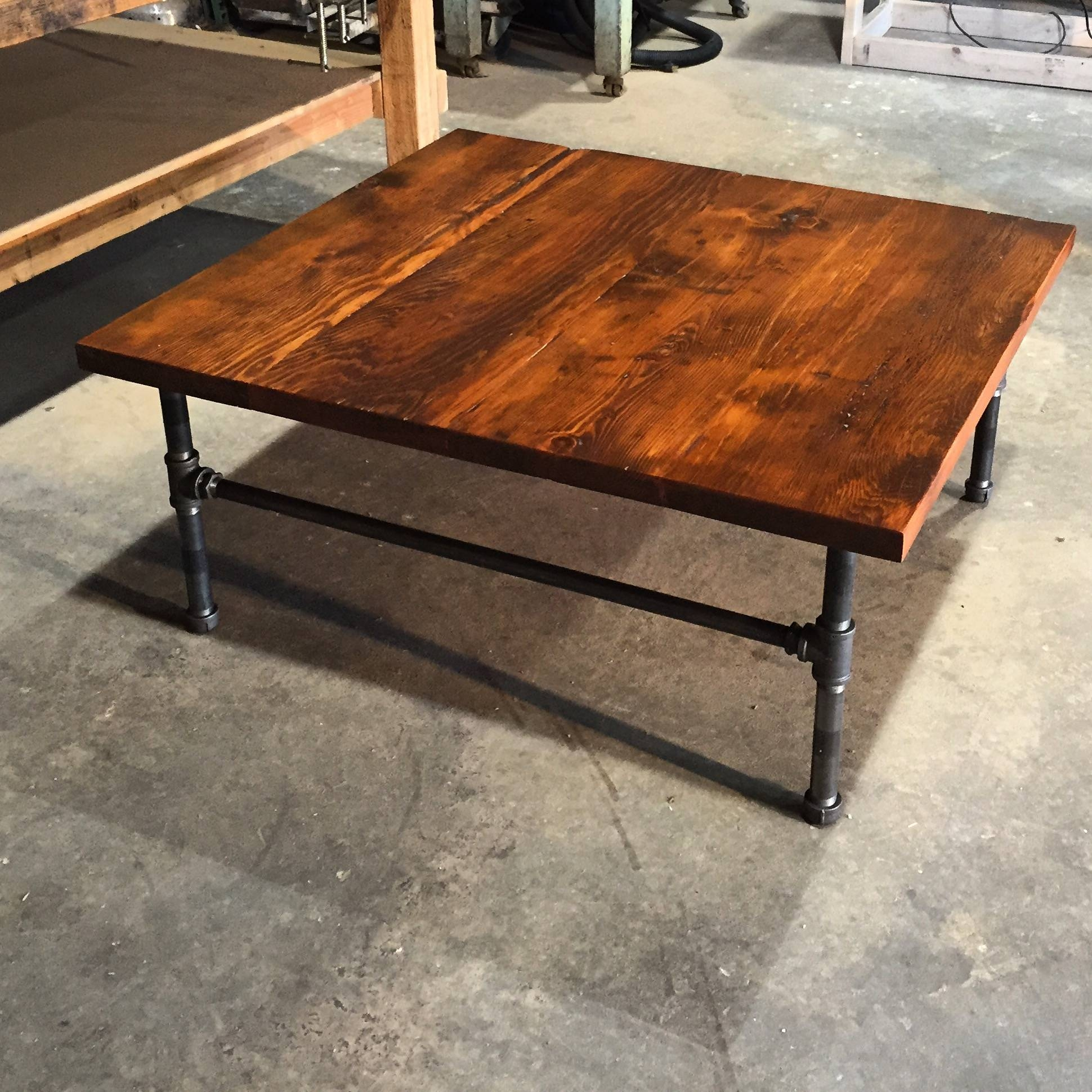 Table. Reclaimed Wood Square Coffee Table - Home Interior Design throughout Reclaimed Wood And Glass Coffee Tables (Image 28 of 30)