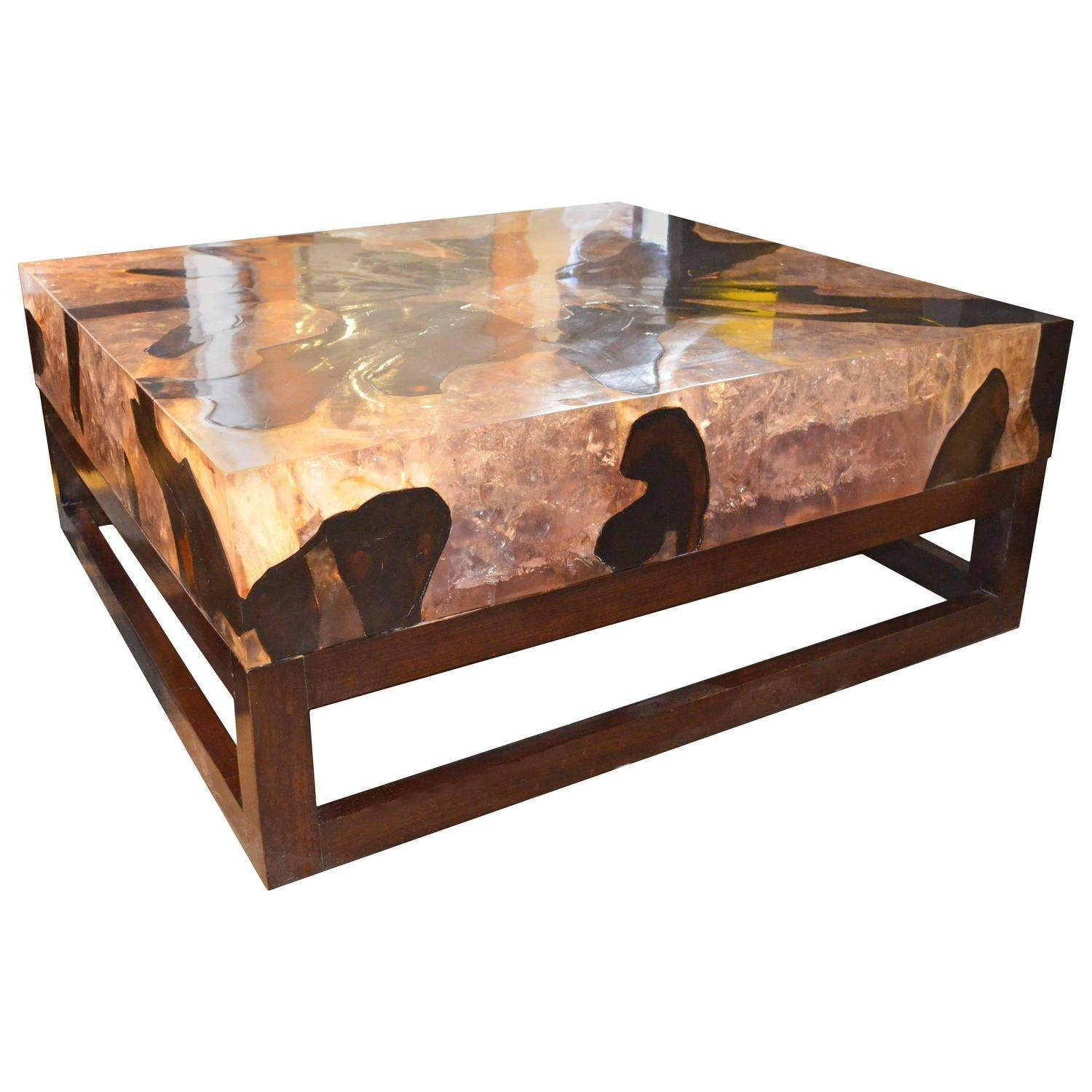 Table. Resin Coffee Table - Home Interior Design within Reclaimed Wood And Glass Coffee Tables (Image 29 of 30)