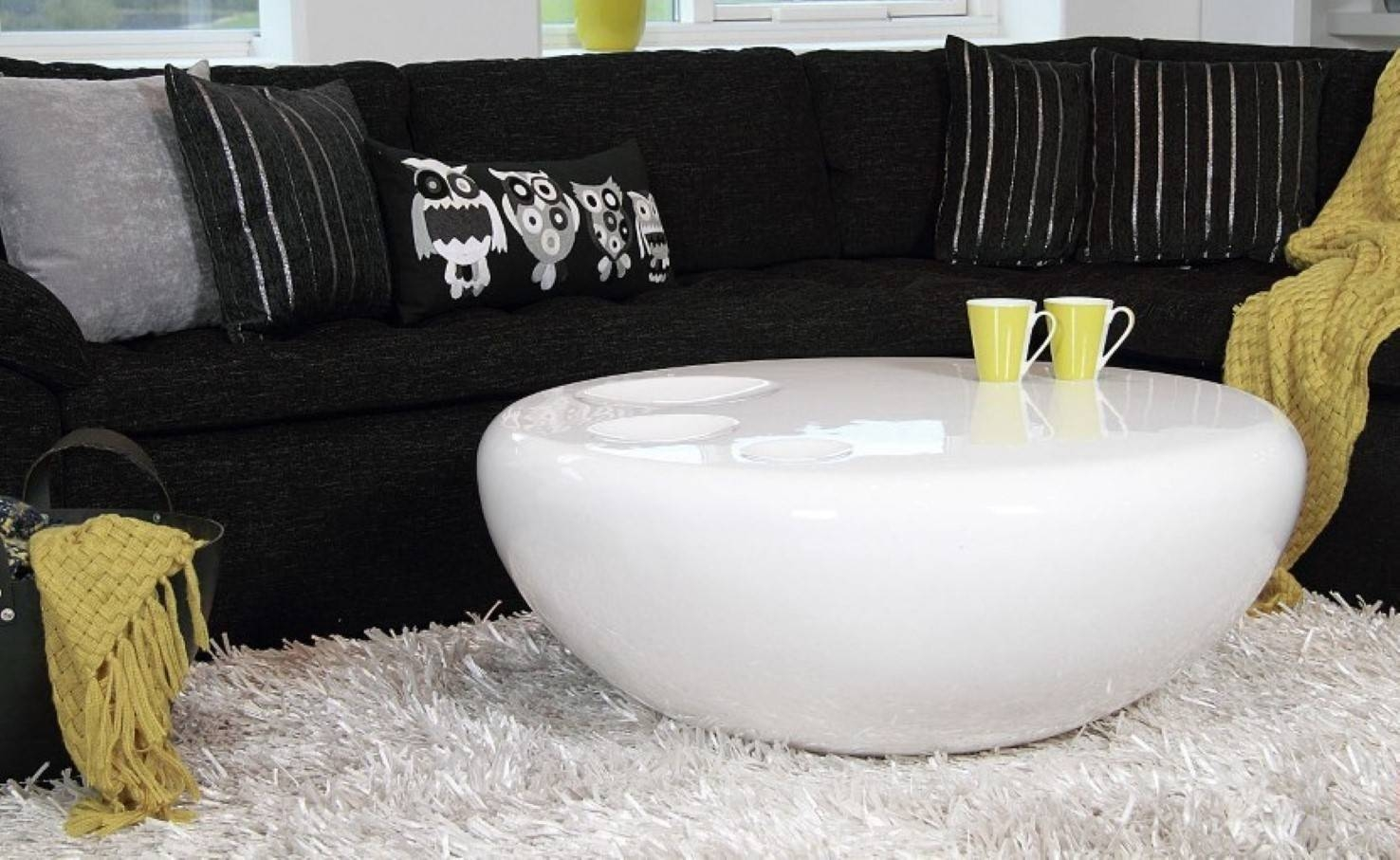 Table : White Round Coffee Table Modern Traditional Medium The for White Circle Coffee Tables (Image 23 of 30)
