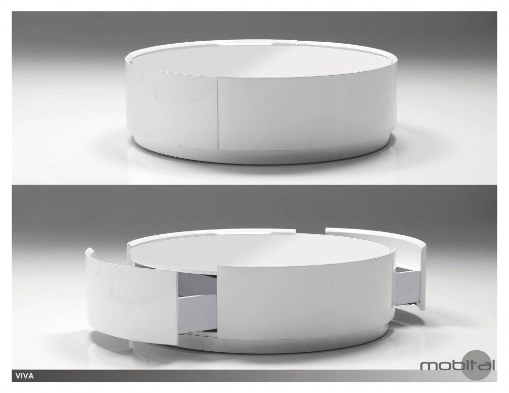 Tables Collection On Ebay High Gloss White Coffee Thumbnail / Thippo with regard to Round High Gloss Coffee Tables (Image 24 of 30)