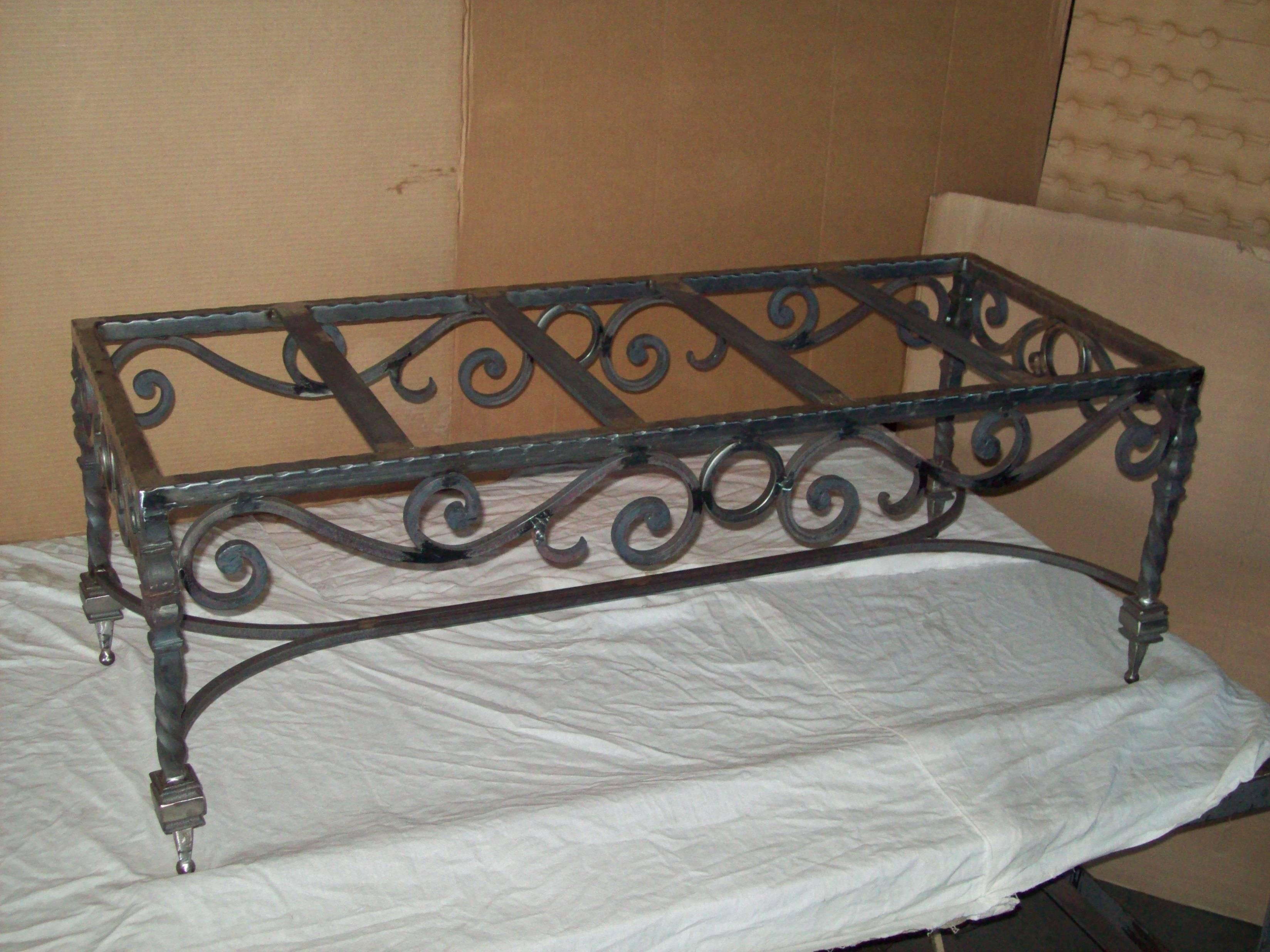 Tables » V & M Iron Works Inc. In The San Jose Bay Area within Wrought Iron Coffee Tables (Image 13 of 30)