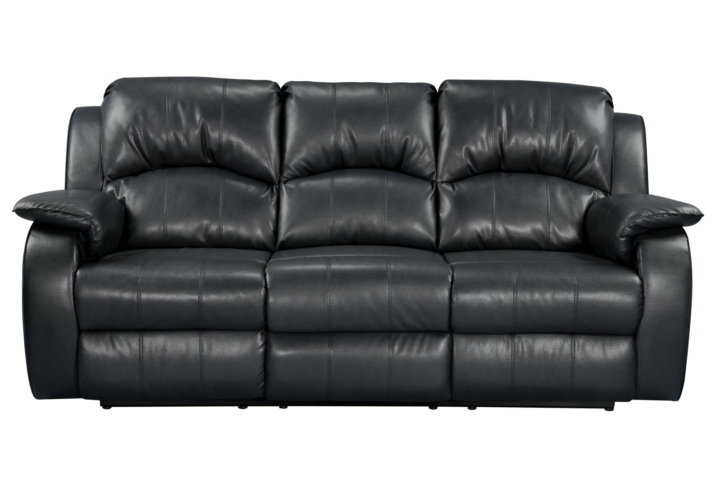 Tahoe Bonded Leather Reclining Sofa within Black And White Sofas (Image 24 of 30)