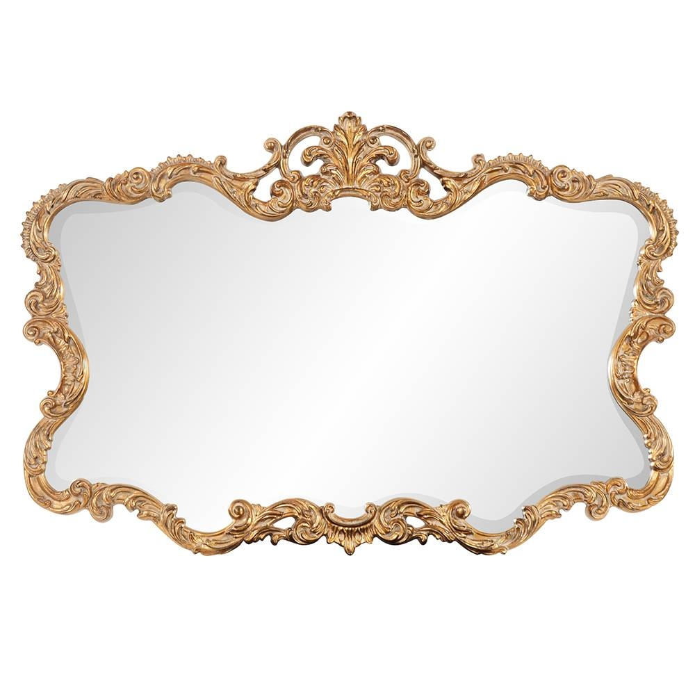 Talida Ornate Gold Mirror|Howard Elliott in Gold Ornate Mirrors (Image 21 of 25)