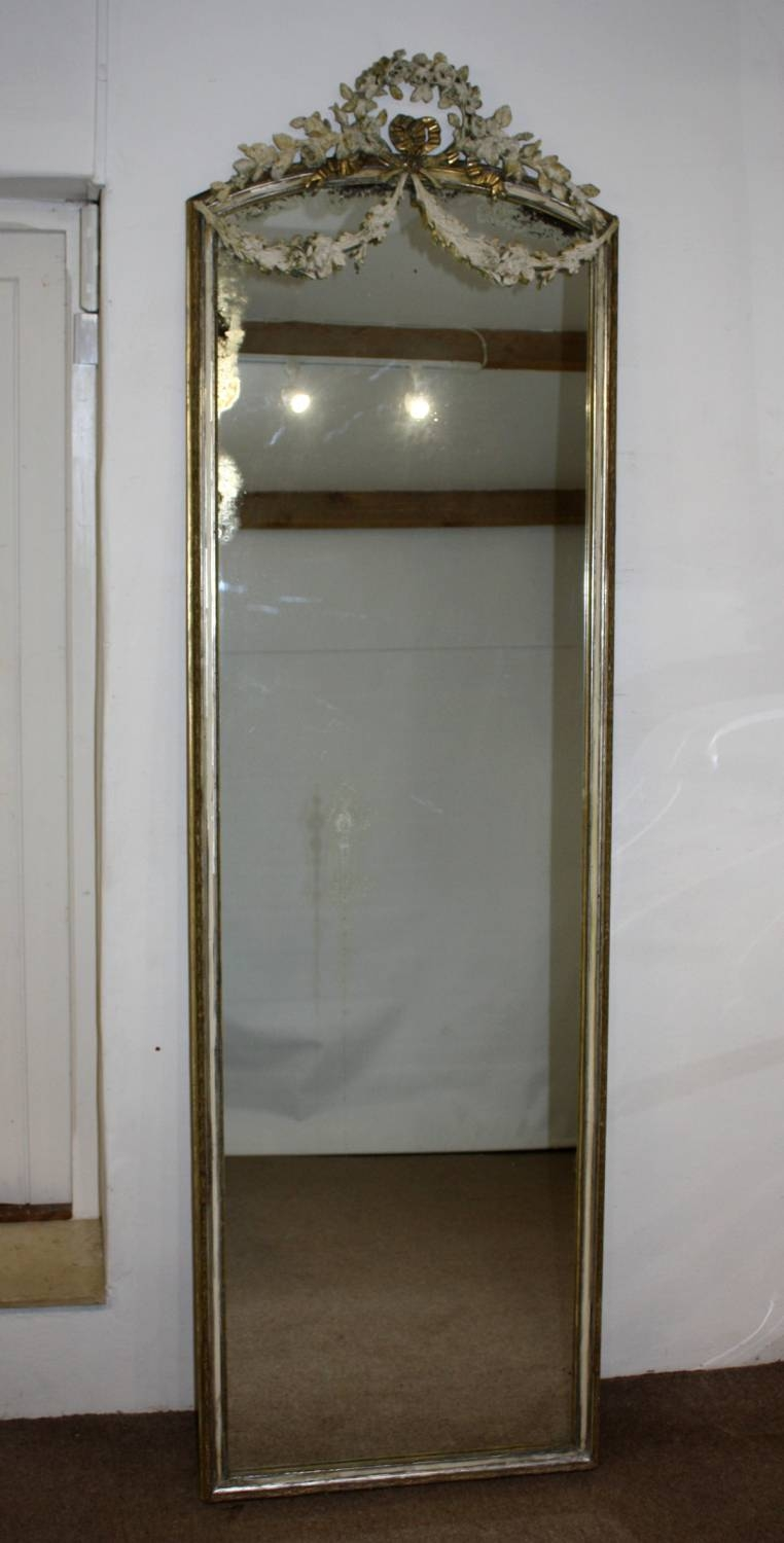 Tall And Narrow Mirror With Swags with Tall Silver Mirrors (Image 22 of 25)