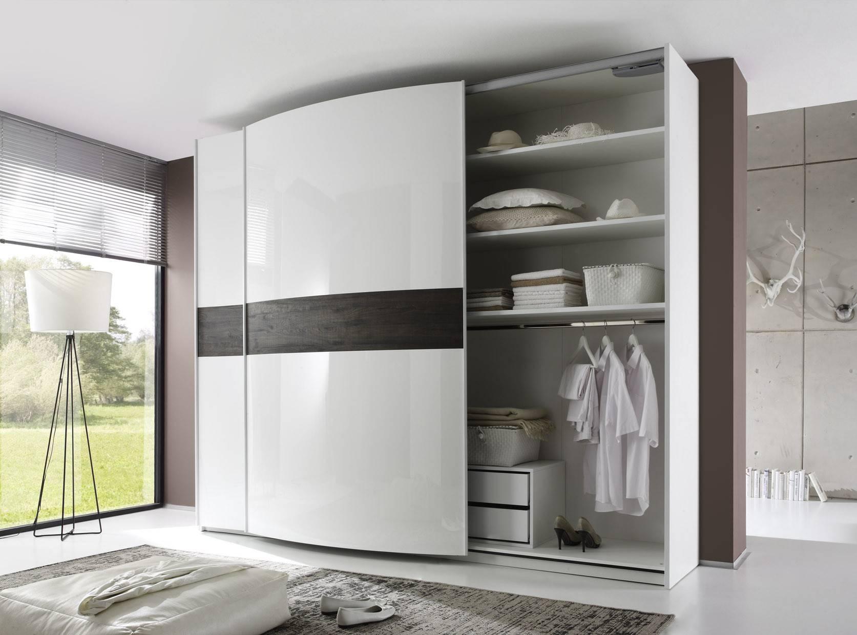 Tambura Curved Sliding Doors Wardrobe, White + Wenge Buy Online At pertaining to Curved Wardrobe Doors (Image 21 of 30)