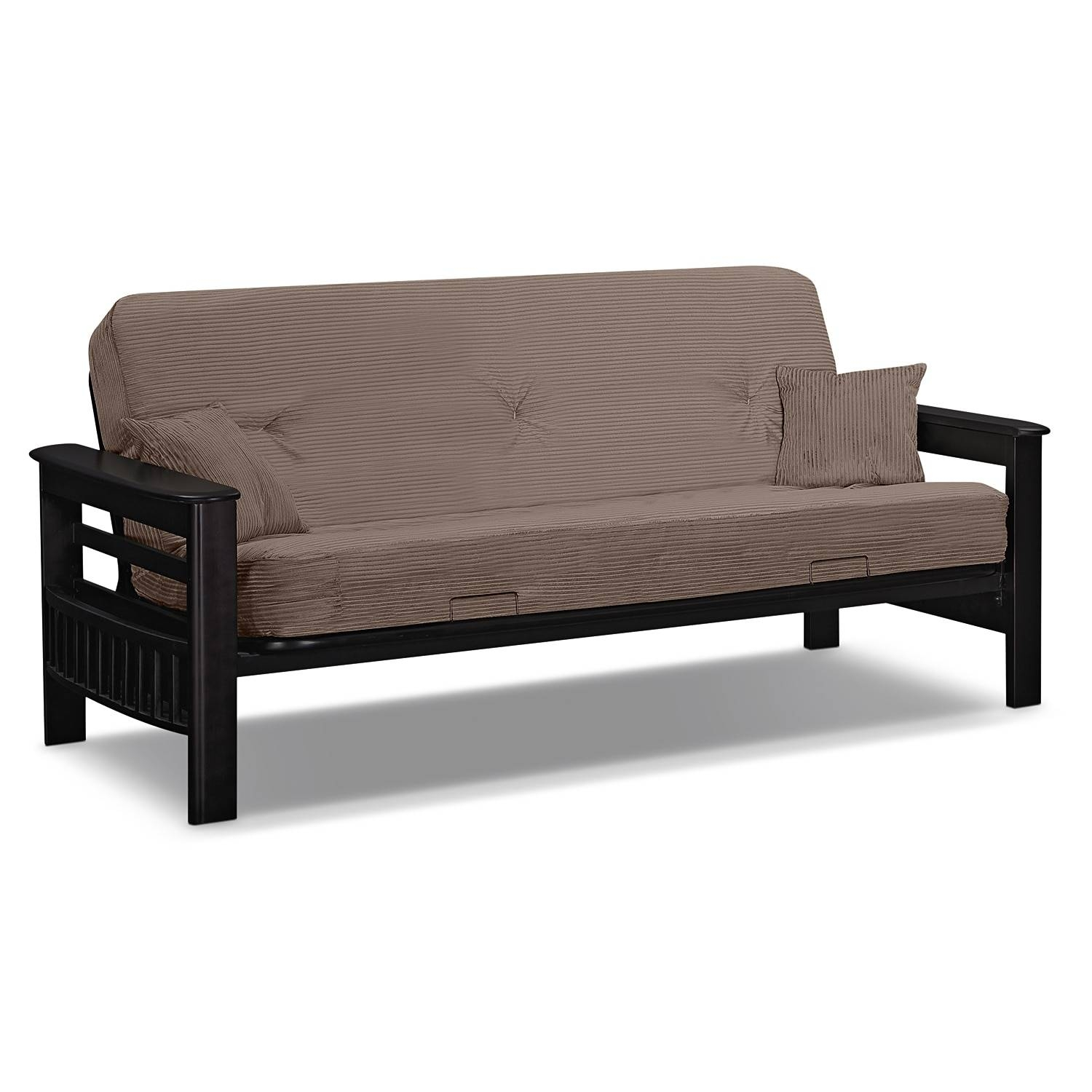 Tampa Futon Sofa Bed - Beige | Value City Furniture regarding Sofas Tampa (Image 24 of 25)