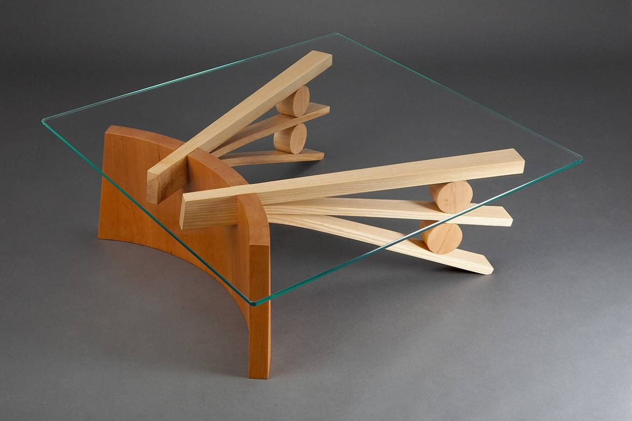 Tanoto Coffee Table | Square Hardwood & Glass Coffee Table - Seth intended for Curved Glass Coffee Tables (Image 27 of 30)