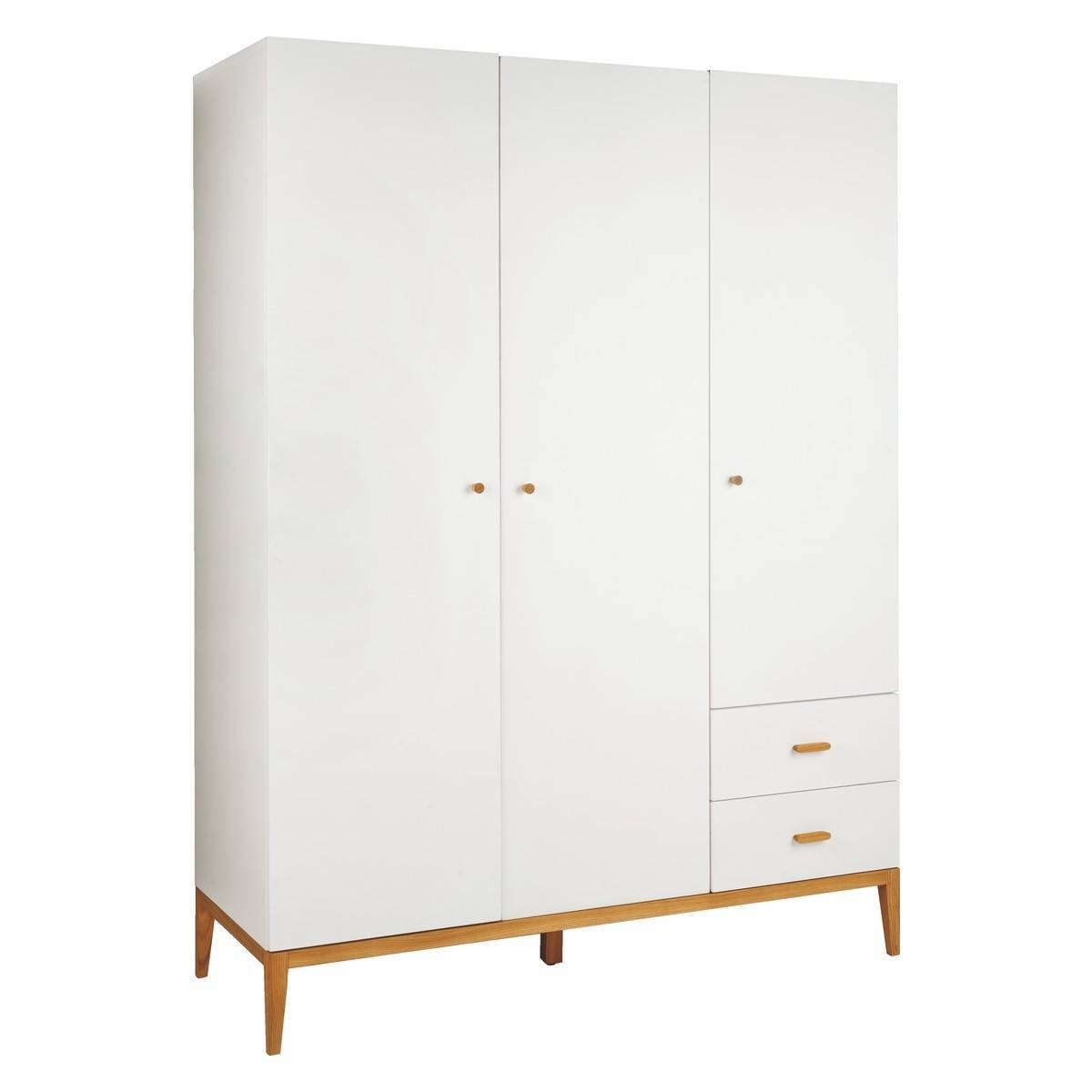 Tatsuma White And Ash 3 Door Wardrobe | Buy Now At Habitat Uk for 3 Door White Wardrobes (Image 26 of 30)