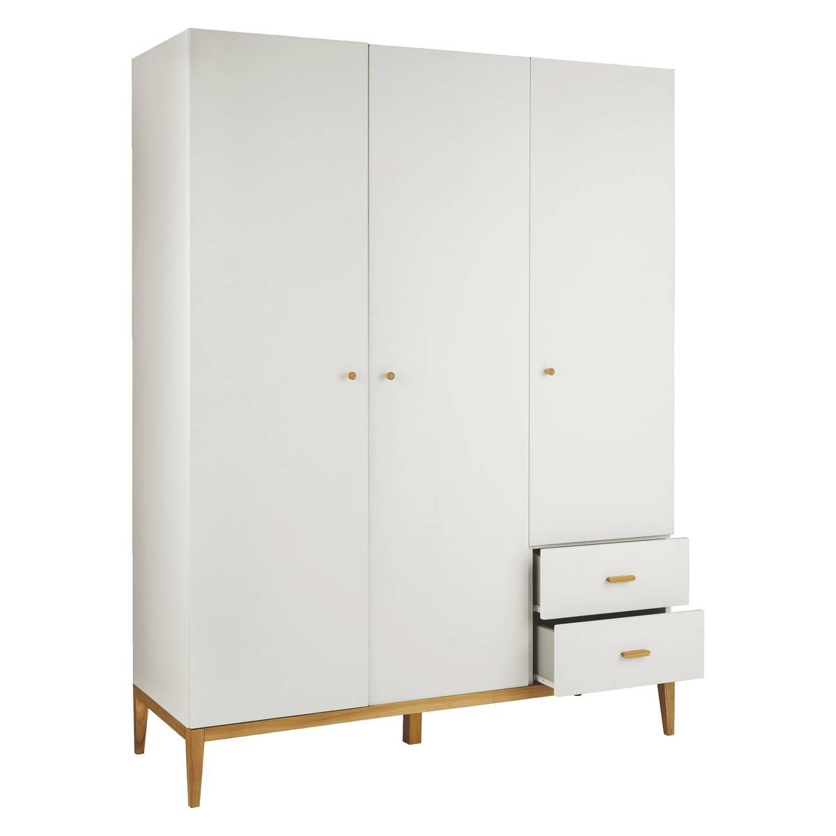 Tatsuma White And Ash 3 Door Wardrobe | Buy Now At Habitat Uk pertaining to 3 Door White Wardrobes (Image 27 of 30)
