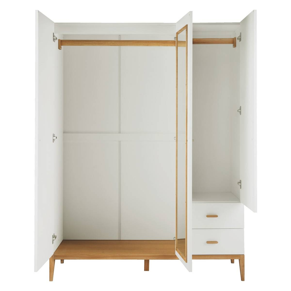 Tatsuma White And Ash 3 Door Wardrobe | Buy Now At Habitat Uk throughout 3 Door White Wardrobes (Image 28 of 30)
