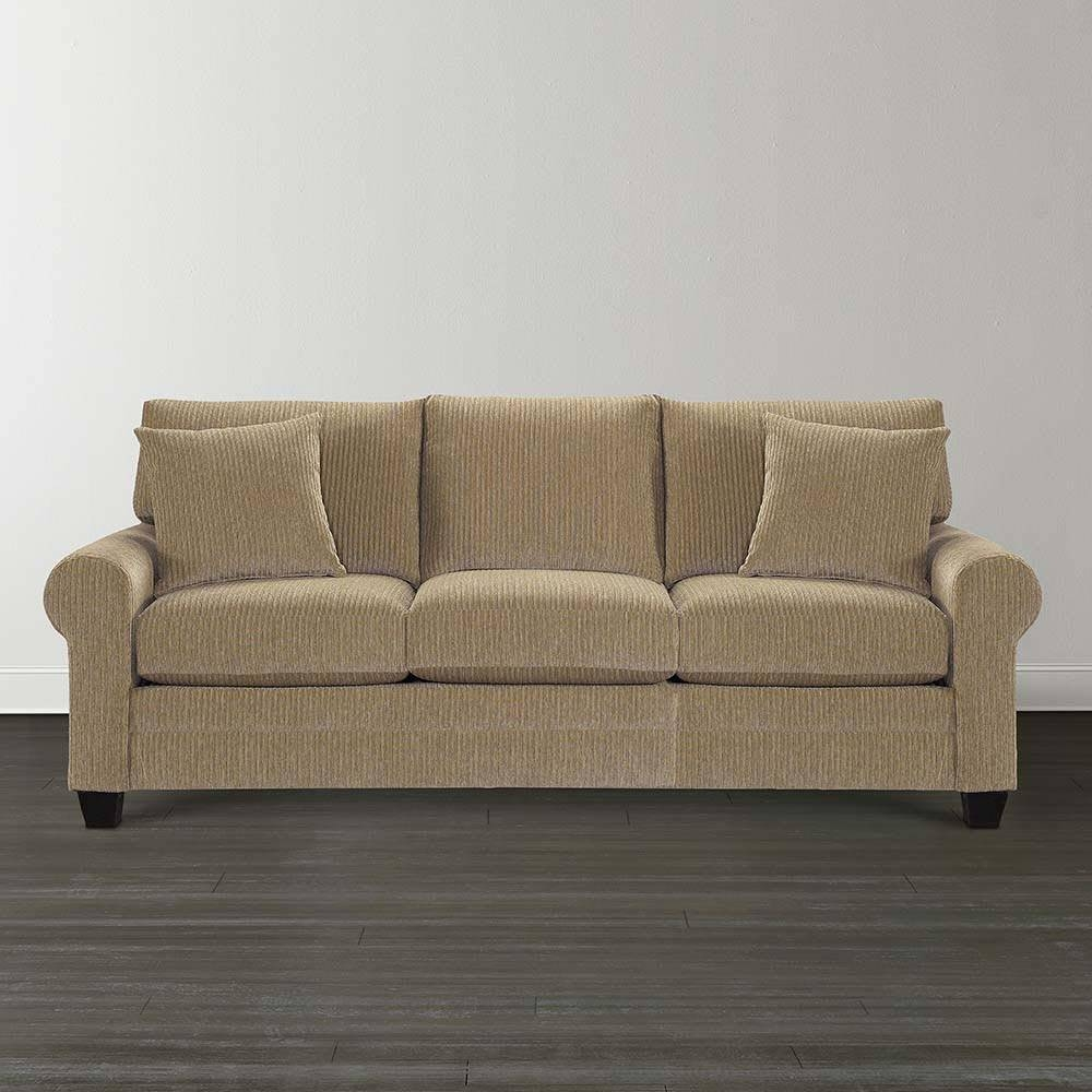 Taupe Cu.2 Sofa | Bassett Home Furnishings intended for Bassett Sofa Bed (Image 22 of 30)