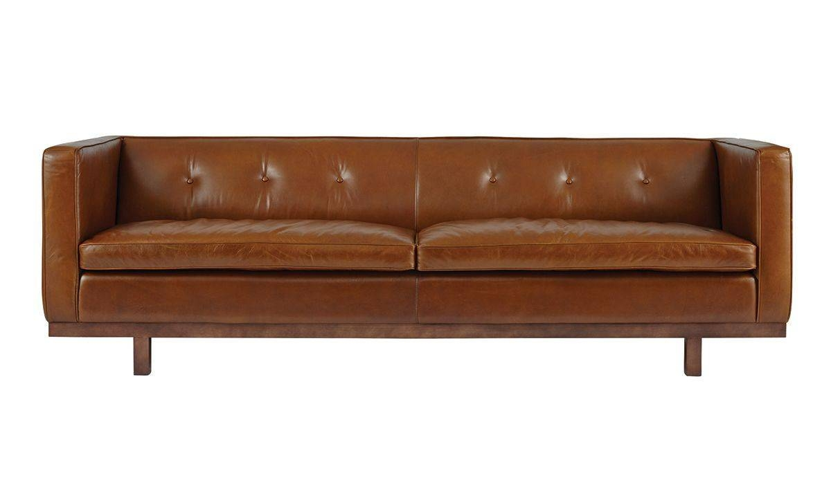 Tawny Leather Sofa | The Dump - America's Furniture Outlet in Closeout Sofas (Image 30 of 30)