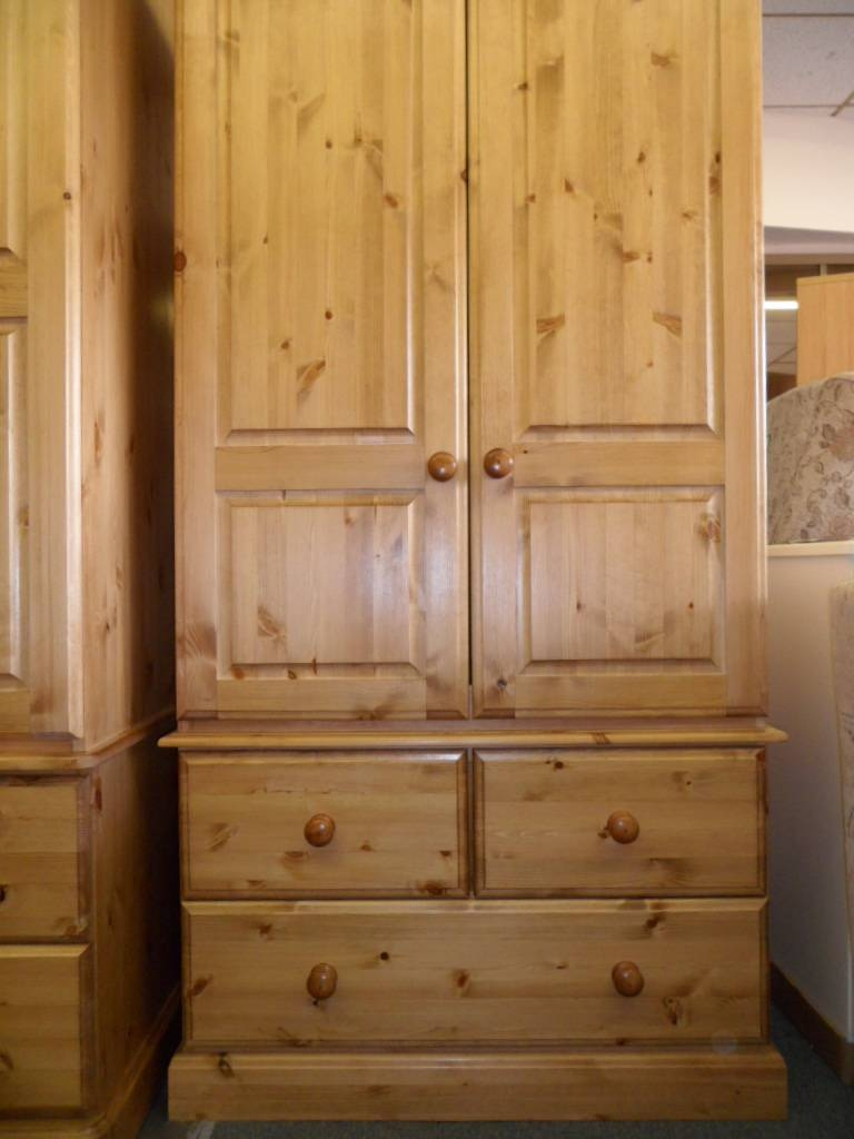 Tbs Range (Pine) : Tbs Discount Furniture, A Large Selection Of for Single Pine Wardrobes With Drawers (Image 14 of 15)