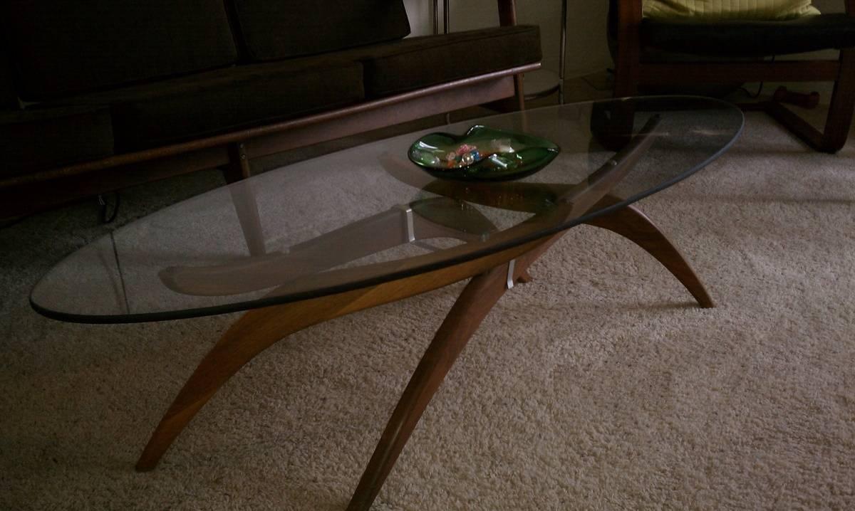 Teak And Glass Coffee Table | Idi Design Intended For Retro Teak Glass Coffee Tables (View 8 of 30)