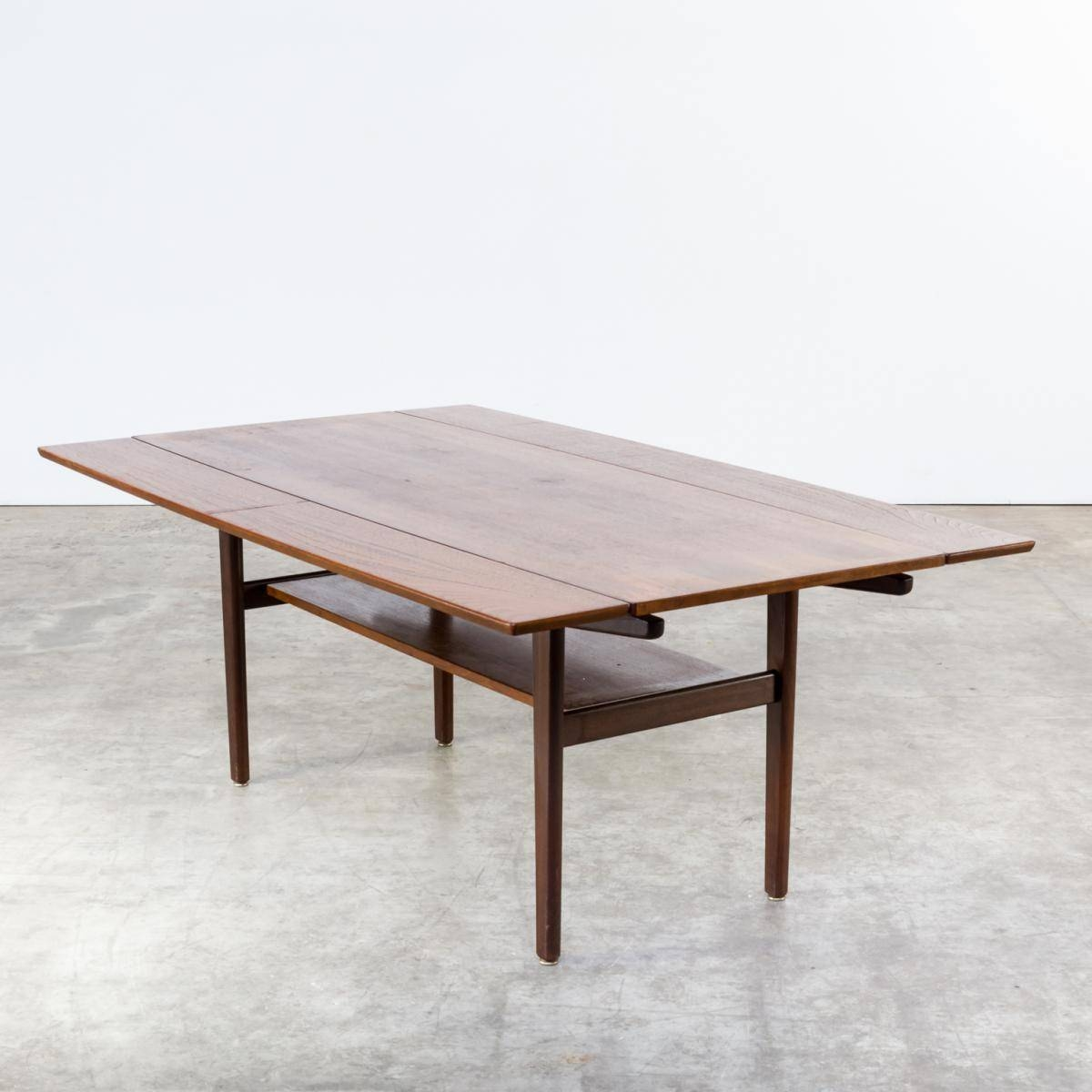 Teak Extendable Coffee Table, 1960S For Sale At Pamono with Extendable Coffee Tables (Image 28 of 30)
