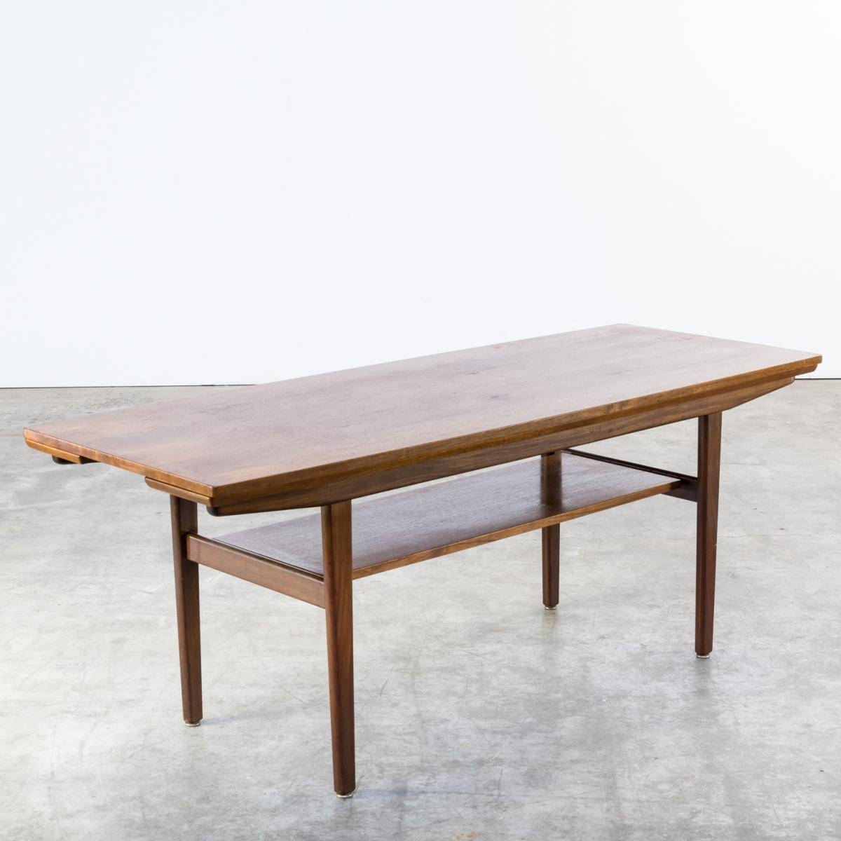 Teak Extendable Coffee Table, 1960S For Sale At Pamono within Extendable Coffee Tables (Image 29 of 30)